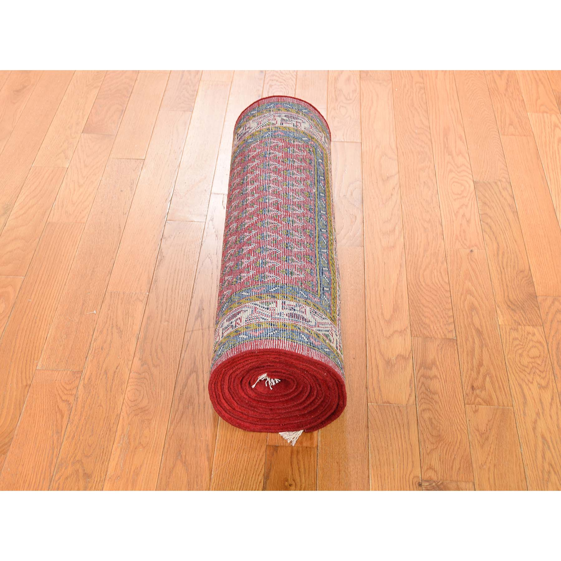 2-7 x10-4  Red New Persian Seraband Runner Pure Wool Hand-Knotted Oriental Rug