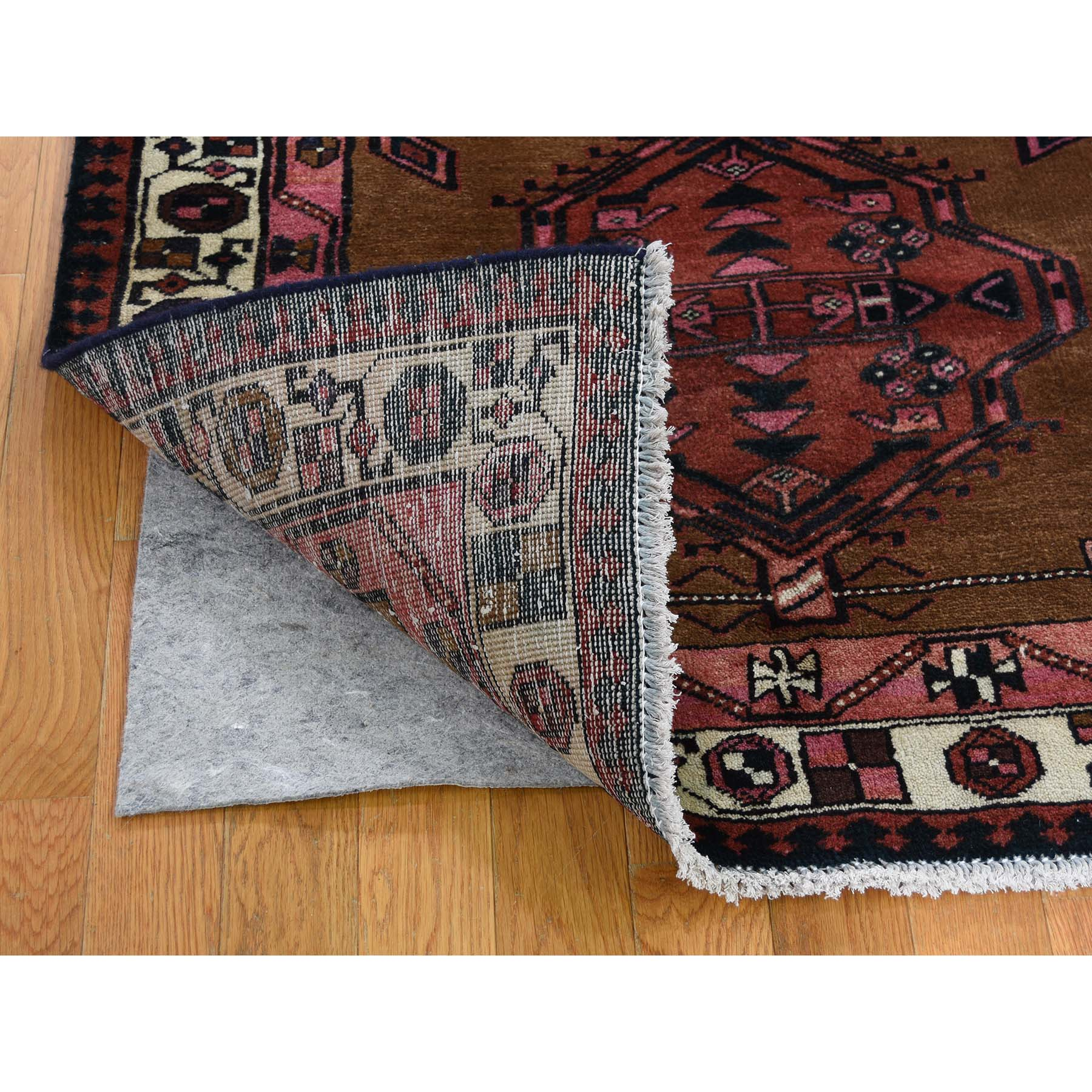 3-6 x10-7  Brown Vintage persian Camel Hair Serab Pure Wool Hand-Knotted Oriental Rug