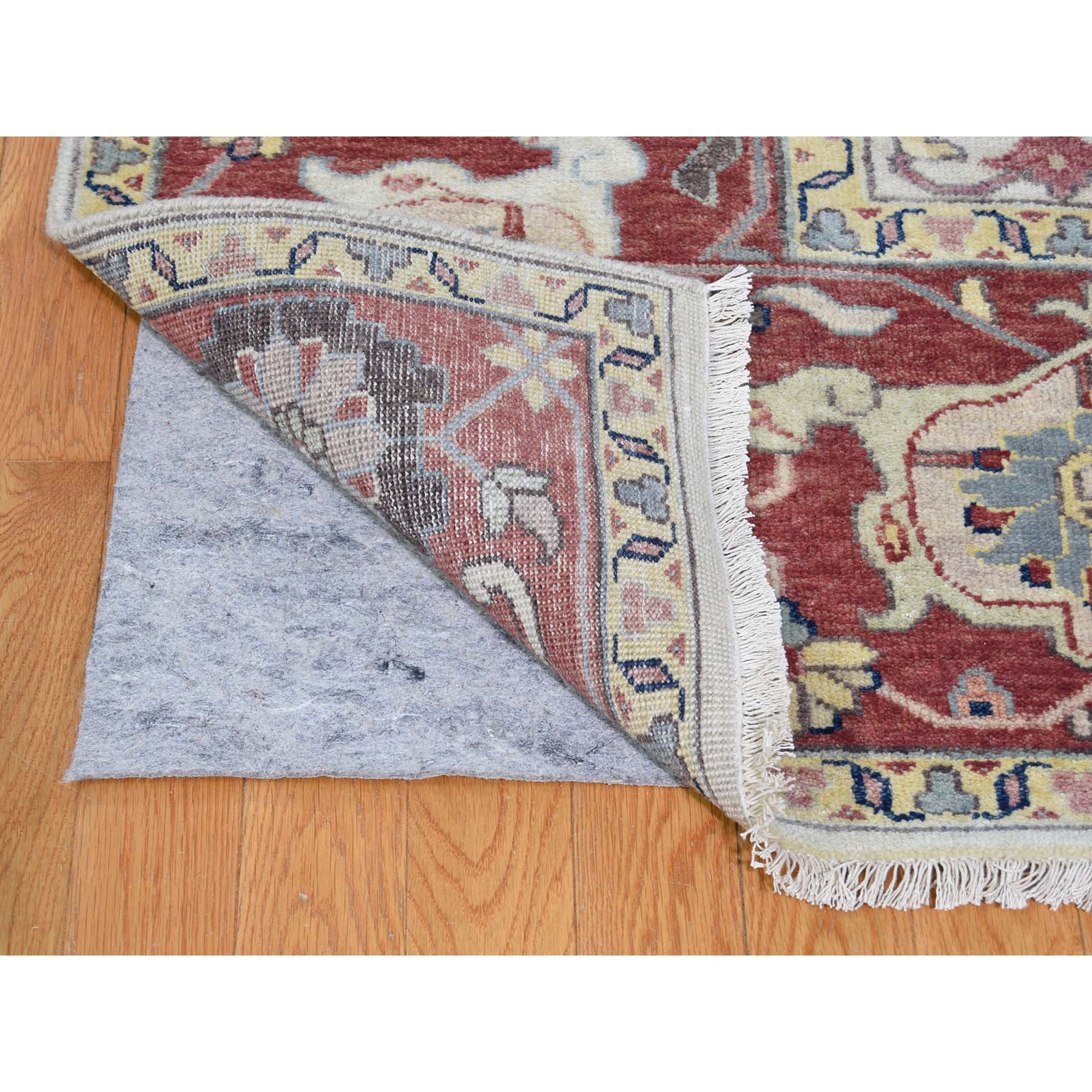 9-9 x13-7  Ivory Heriz Revival All Over Design Pure Wool Hand-Knotted Oriental Rug