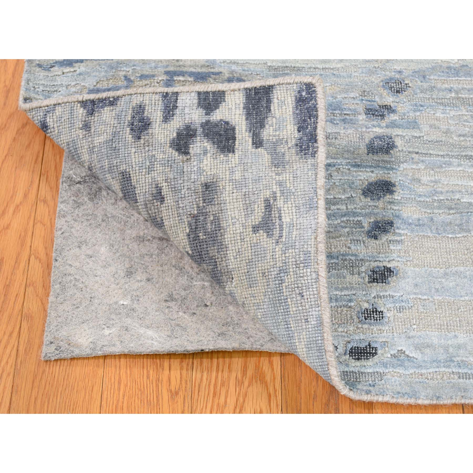 2-x2-3  Sampler Textured Pure Silk With Textured wool Hand-Knotted Oriental Rug