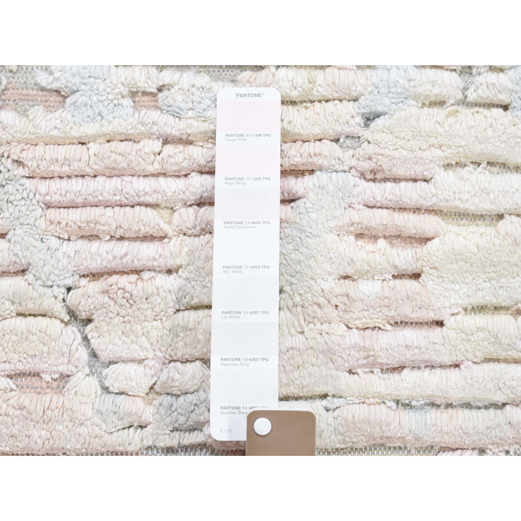 2-x2- Sampler luxurious Plush Pure Silk With Textured Wool Hand-Knotted Oriental Rug