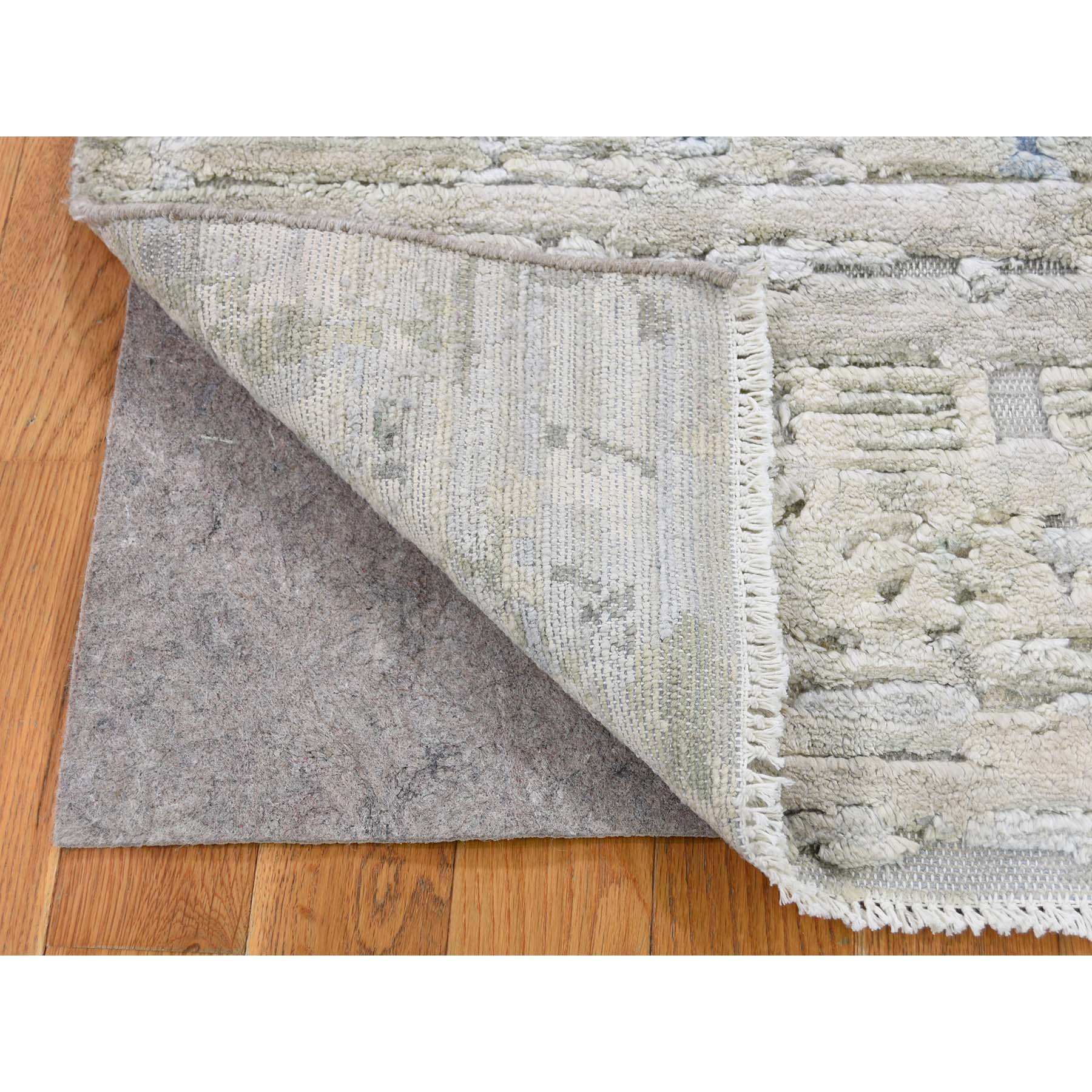 2-x2- Sampler Textured Pure Silk With Textured wool Hand-Knotted Oriental Rug