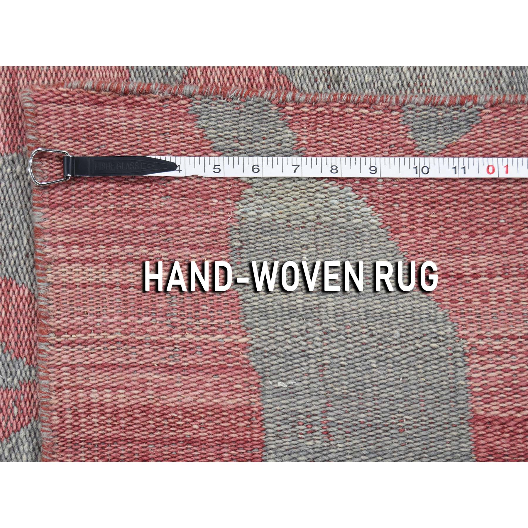 4-x6- Pure Wool Reversible Kilim Flat Weave Hand-Woven Oriental Rug