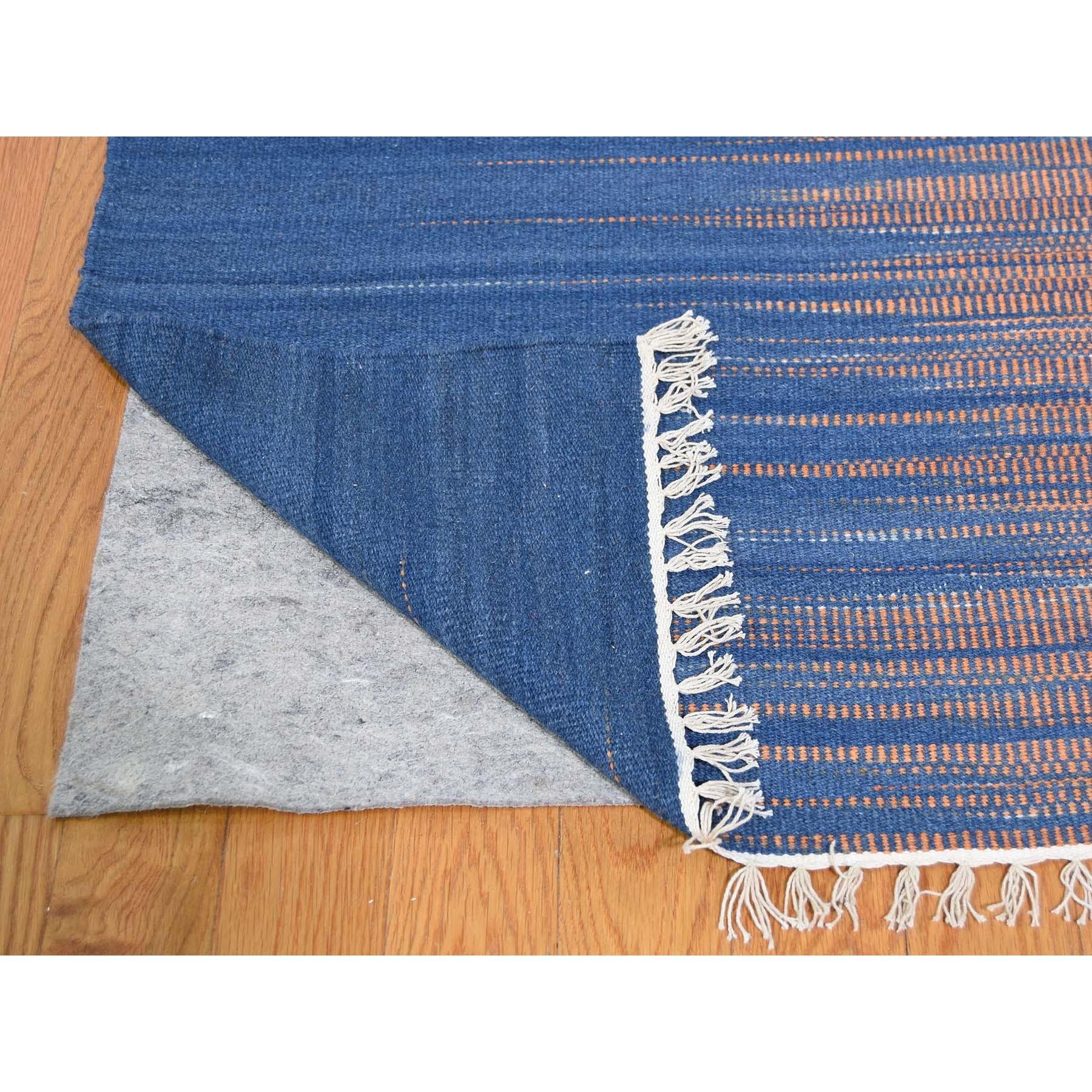 "10'1""x14'5"" Hand Woven Durie Kilim Pure Wool Gradient Design Oriental Rug"