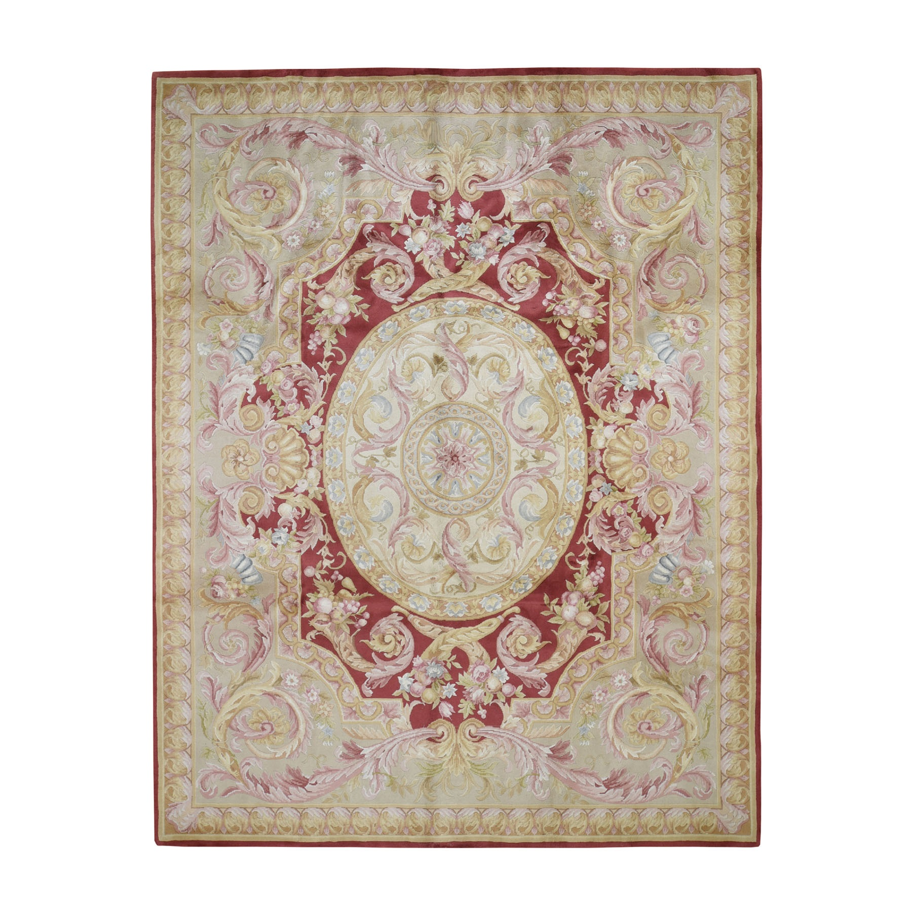 8'X10' Hand-Knotted Thick And Plush Savonnerie Napoleon Iii Design Oriental Rug moad6778