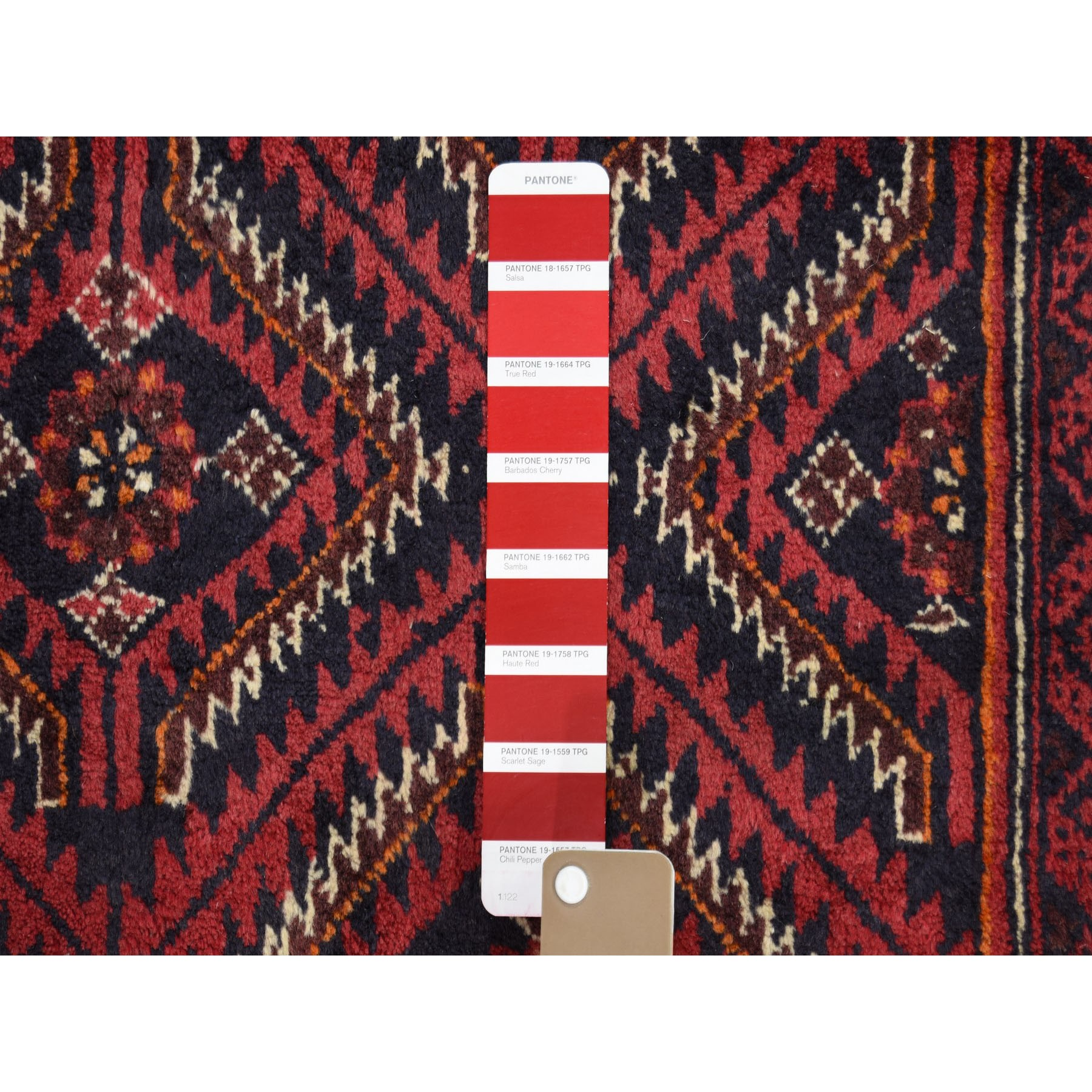 4-x7-6  Red Vintage Persian Baluch Exc Condition Full Pile Hand-Knotted Oriental Rug