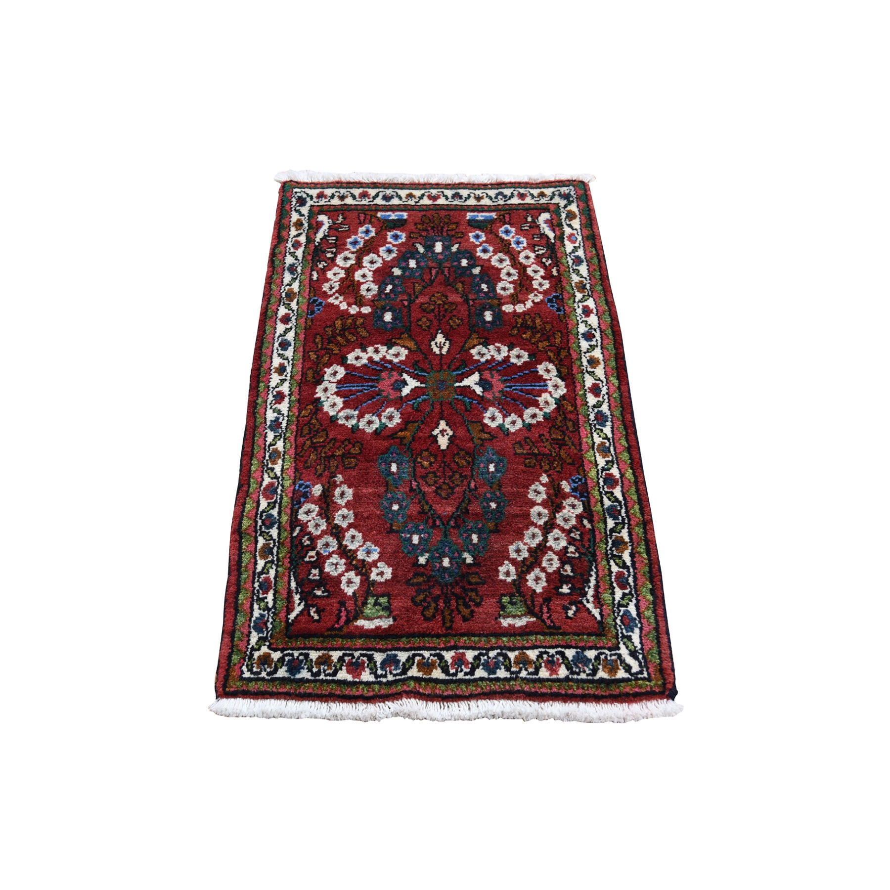 """1'9""""X2'9"""" Red New Persian Lilahan Pure Wool Hand-Knotted Oriental Rug moad68ae"""