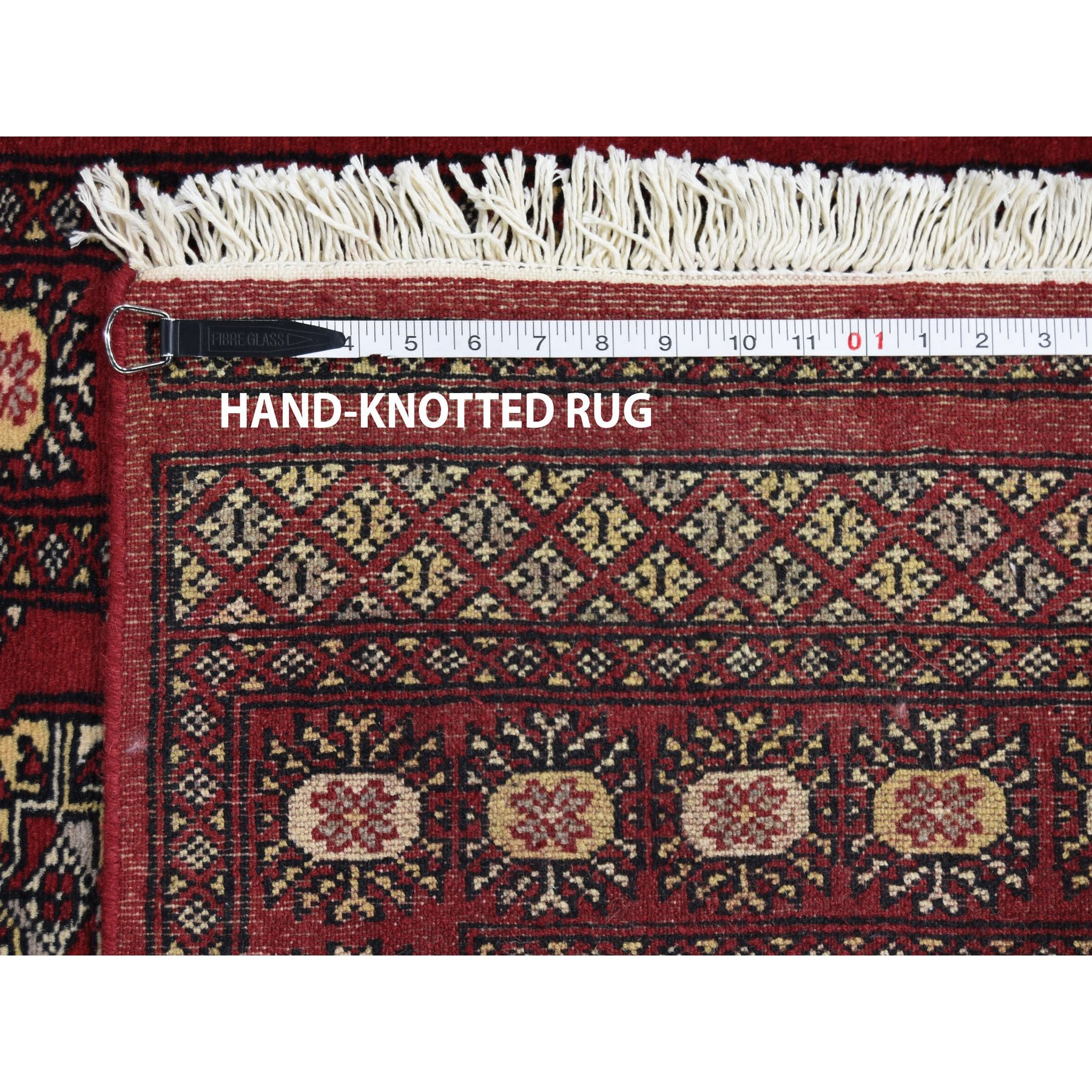 2-6 x16-1  Hand-Knotted Mori Bokara Elephant Feet Design XL Runner Pure Wool Oriental Rug