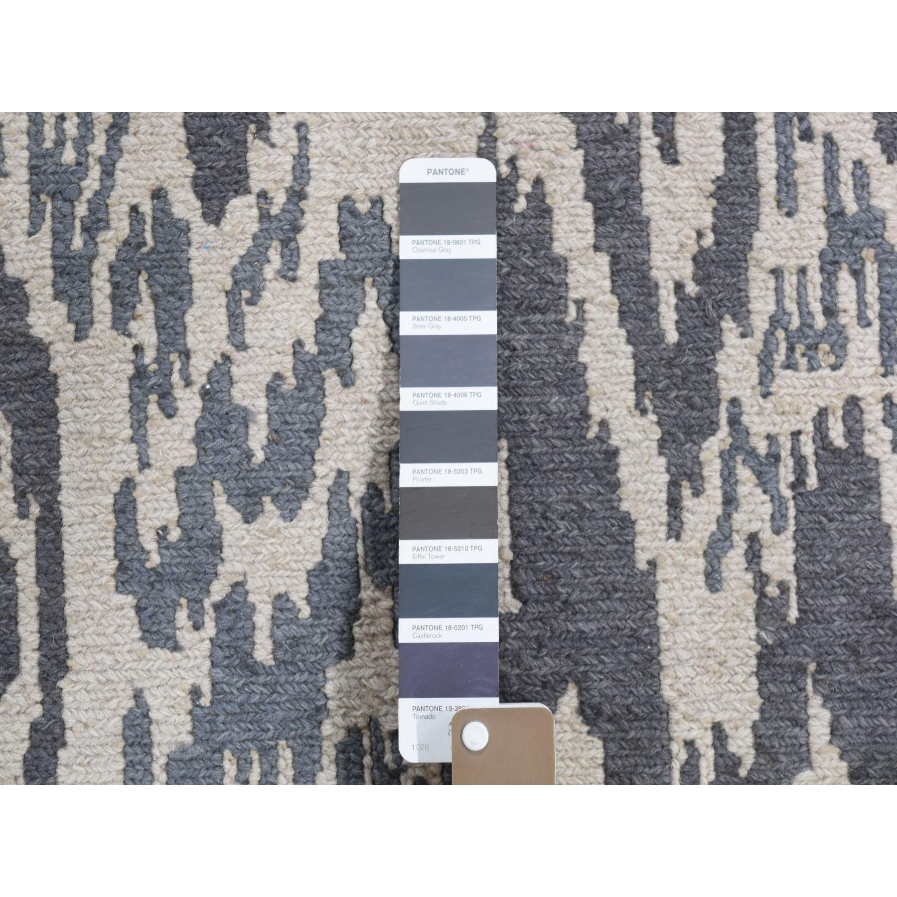 3-9 x6- Soumak With Ikat Design Hand Woven Flat Weave Pure Wool Oriental Rug