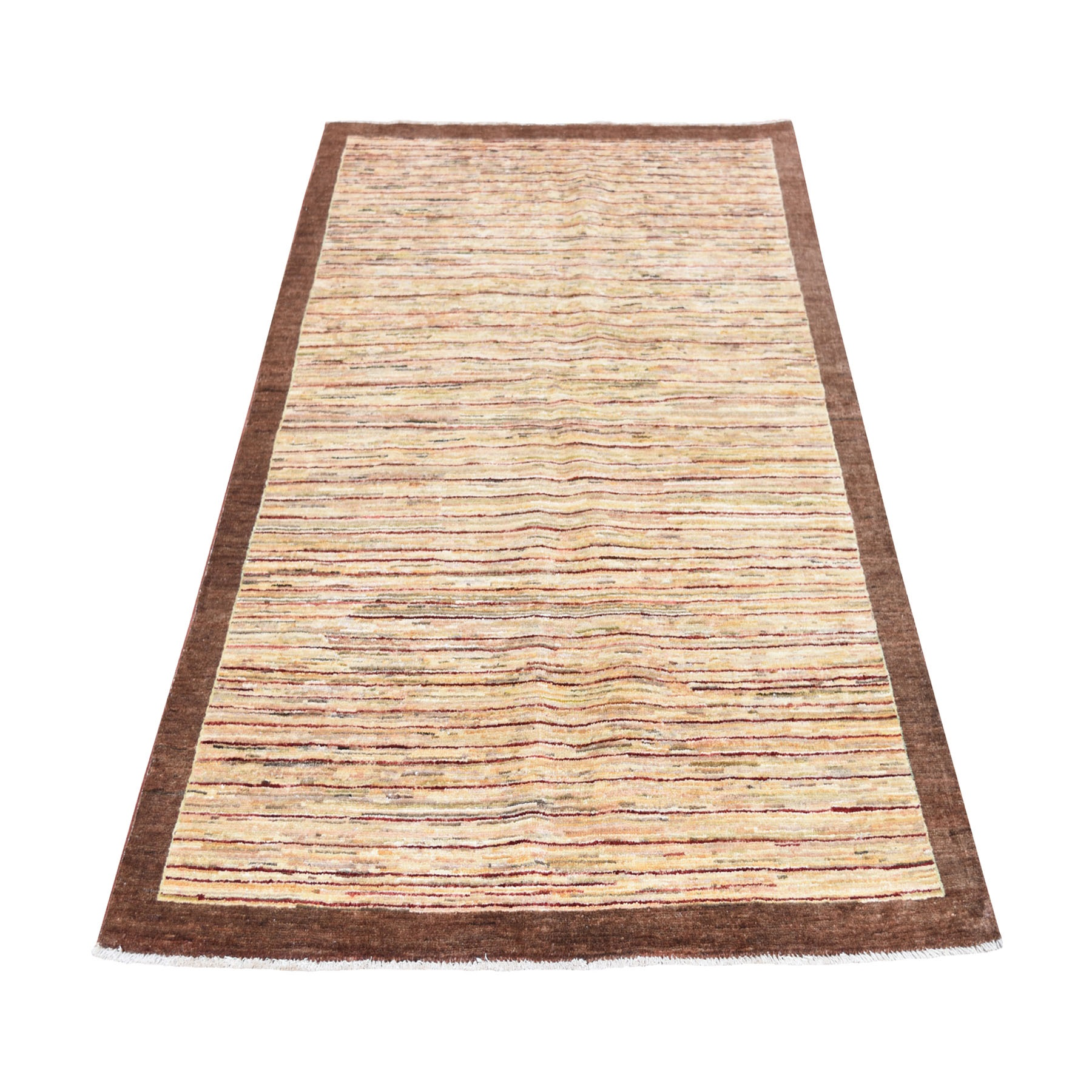 """3'9""""X6'  Colorful Peshawar Gabbeh Hand Knotted Oriental Rug moad70ba"""