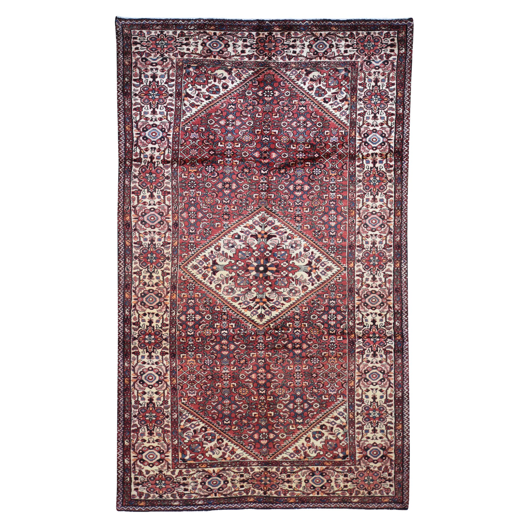 "5'3""X11' Gallery Size Red New Persian Bakhtiari Pure Wool Hand Knotted Oriental Rug moad7aaa"