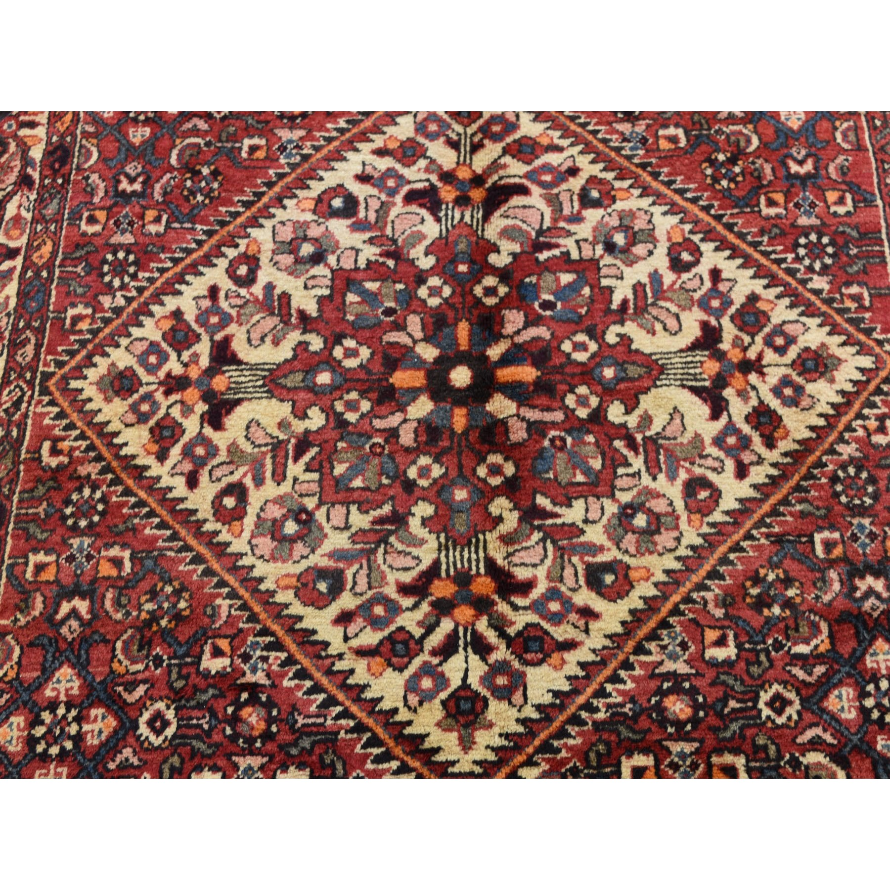 5-3 x11- Gallery Size Red New Persian Bakhtiari Pure Wool Hand Knotted Oriental Rug