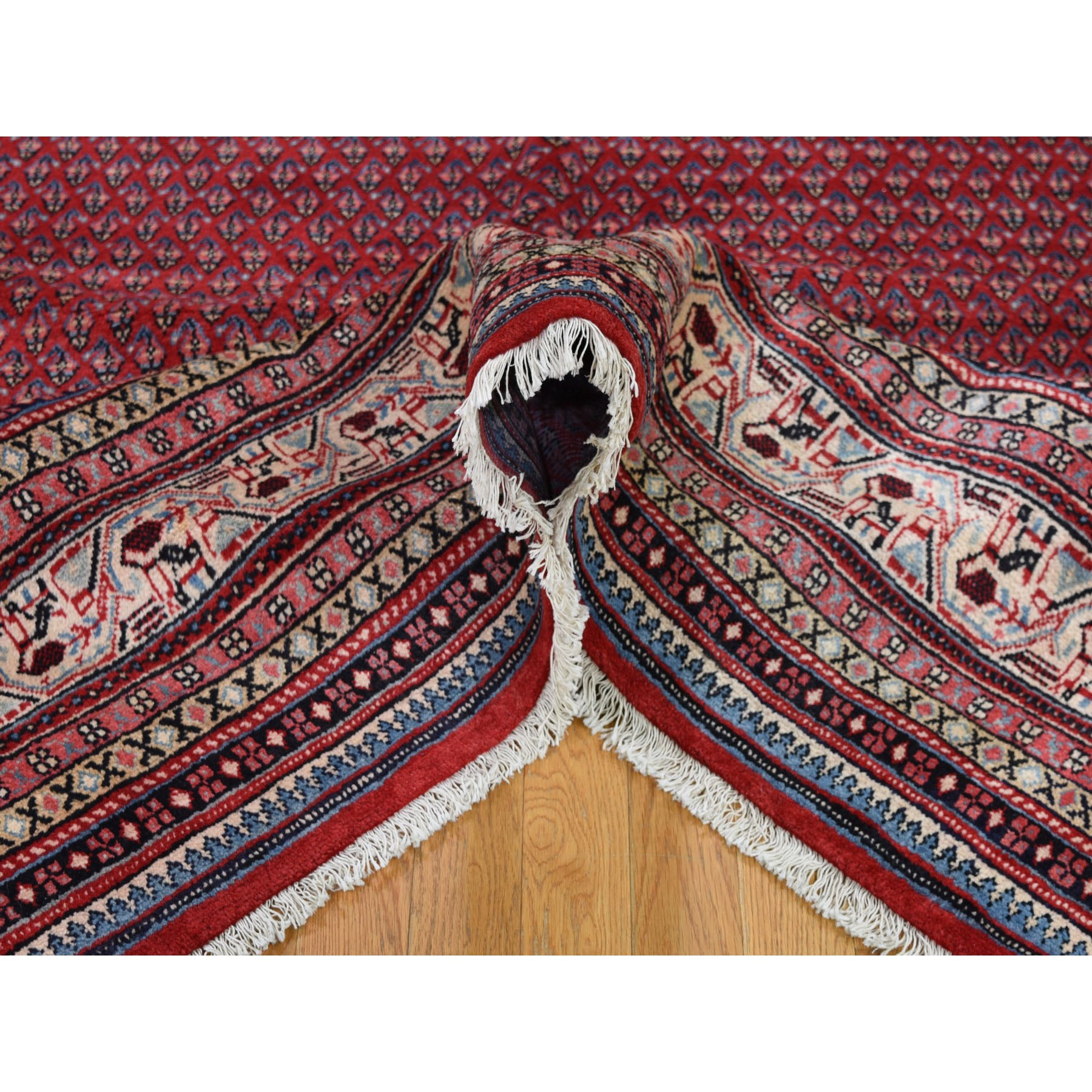 8-x10-10  Red Vintage Persian Seraband Pure Wool Hand Knotted Oriental Rug