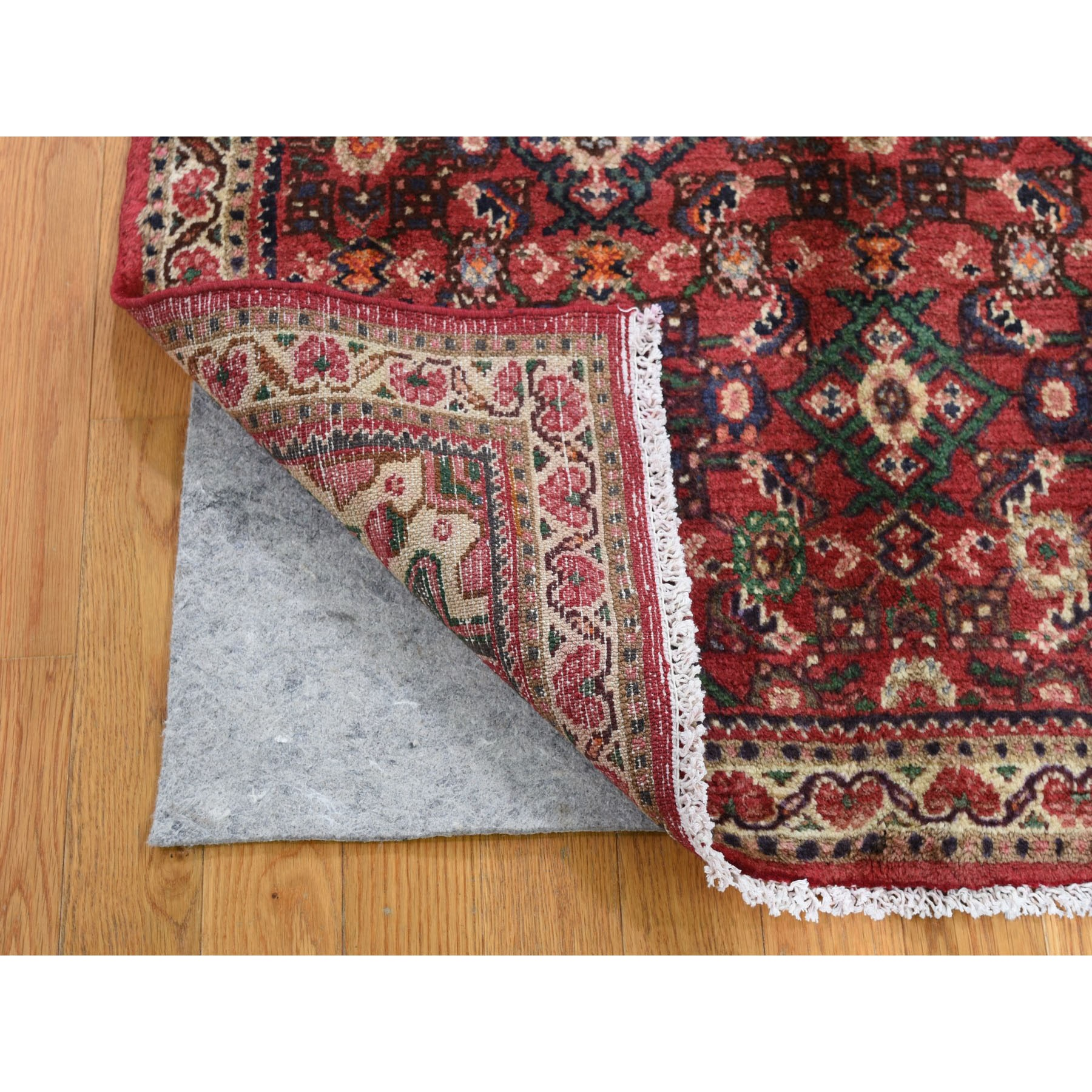 3-4 x5-6  Red Vintage Persian Hamadan Clean Hand Knotted Pure Wool Oriental Rug