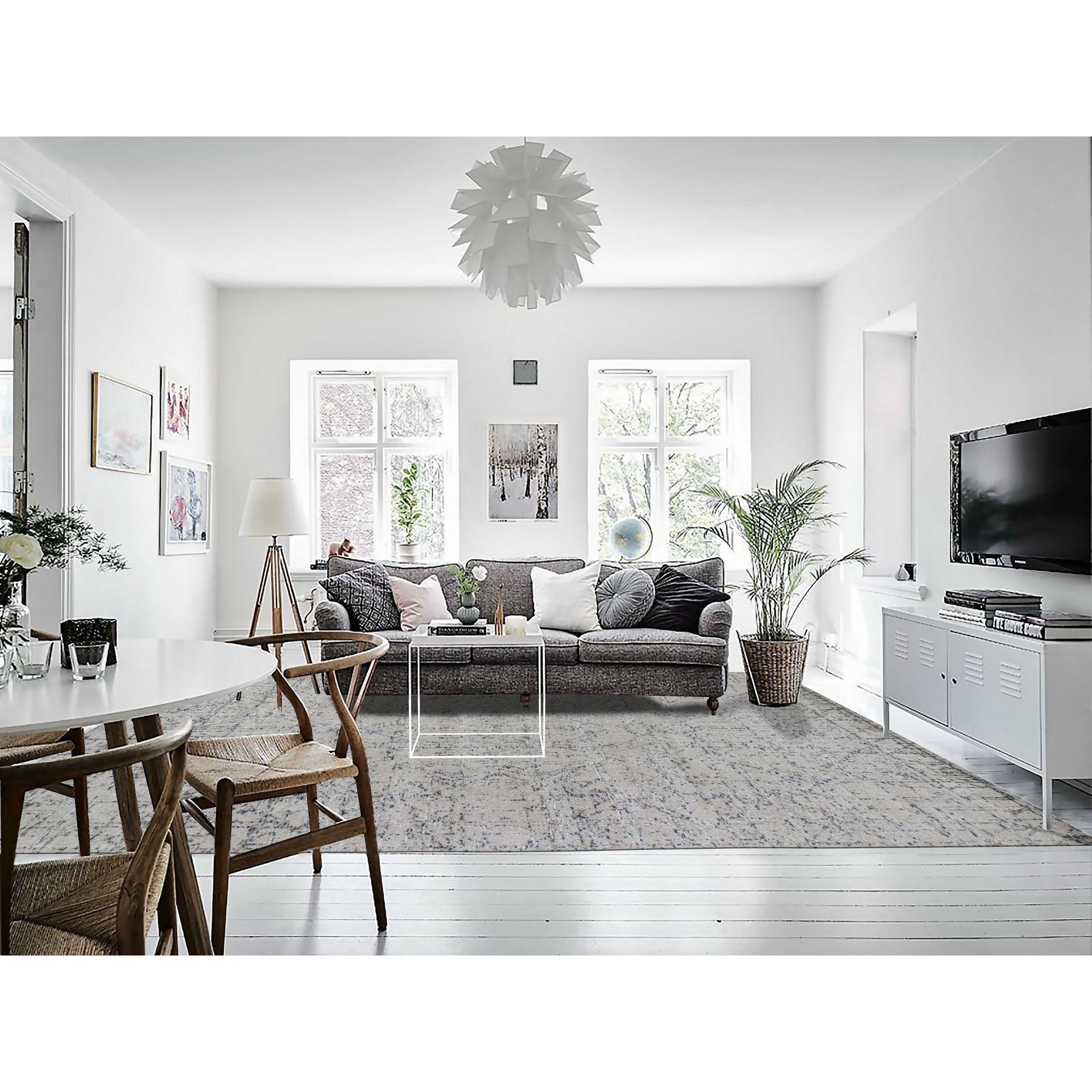 Enjoyable 8X10 Gray Fine Jacquard Hand Loomed Modern Wool And Silk Oriental Rug Creativecarmelina Interior Chair Design Creativecarmelinacom