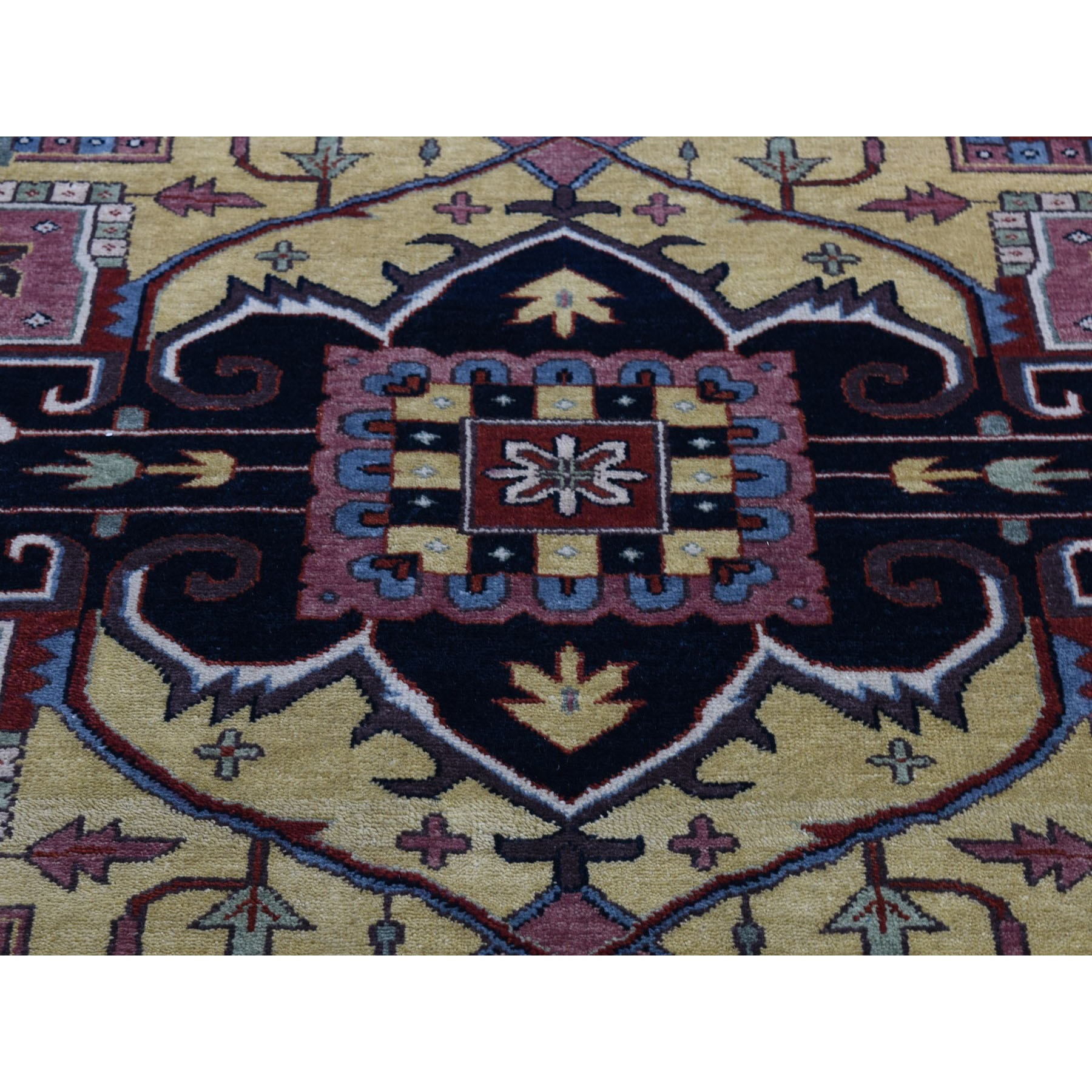 11-7 x15- Oversized Red Heriz Revival Pure Wool Hand Knotted Oriental Rug
