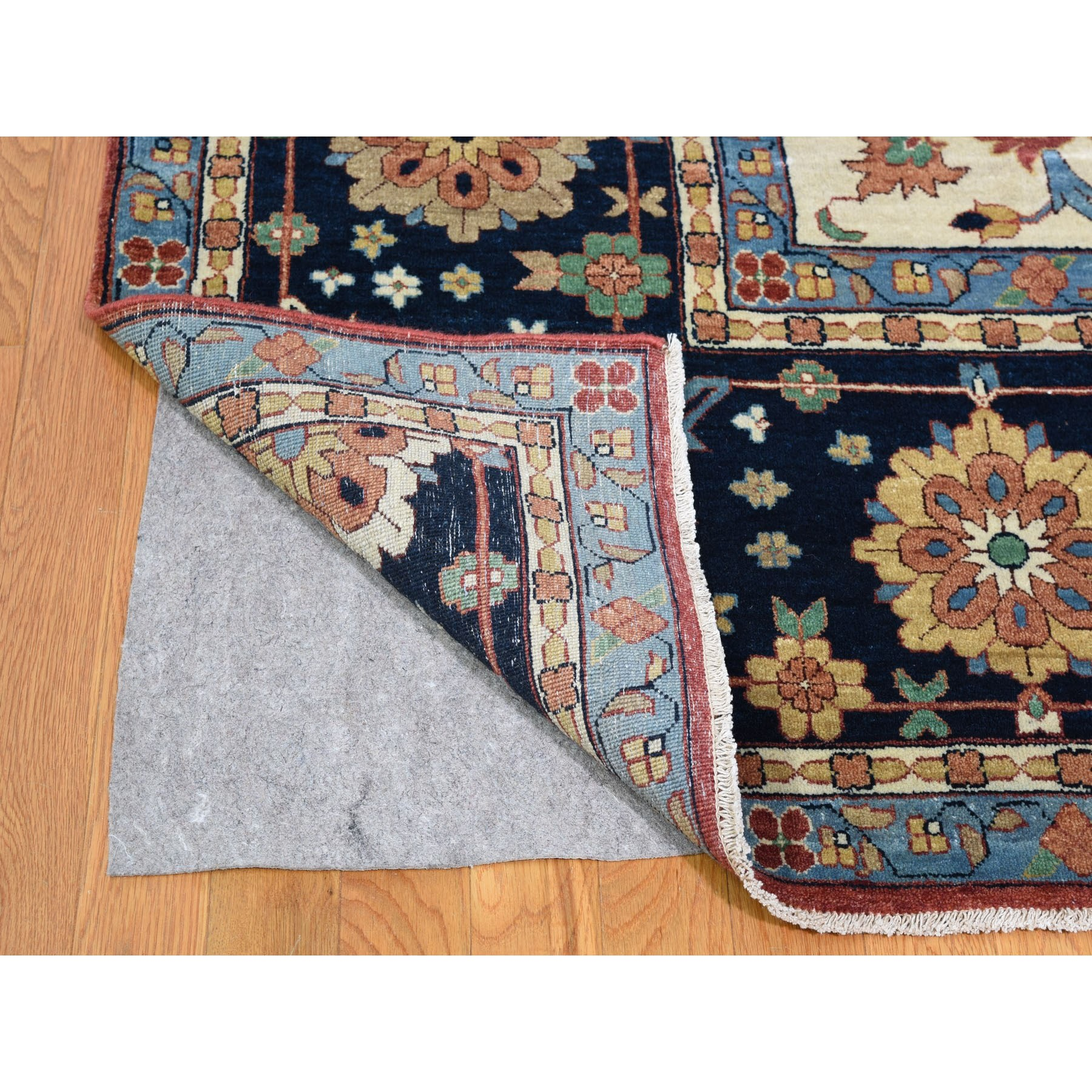 """12'x17'9"""" Oversize Hand Knotted Antiqued Heriz Re-creation Pure Wool Oriental Rug"""