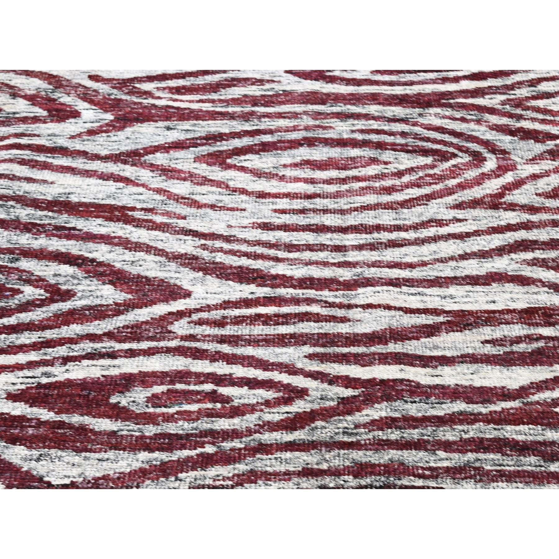 10'x14' Burgundy Modern Sari Silk Hand Knotted Oriental Rug