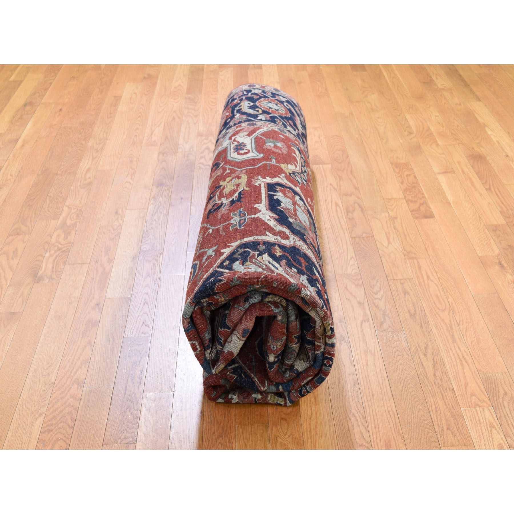 9-x12- Antiqued Heriz Re-creation Pure Wool Hand Knotted Oriental Rug