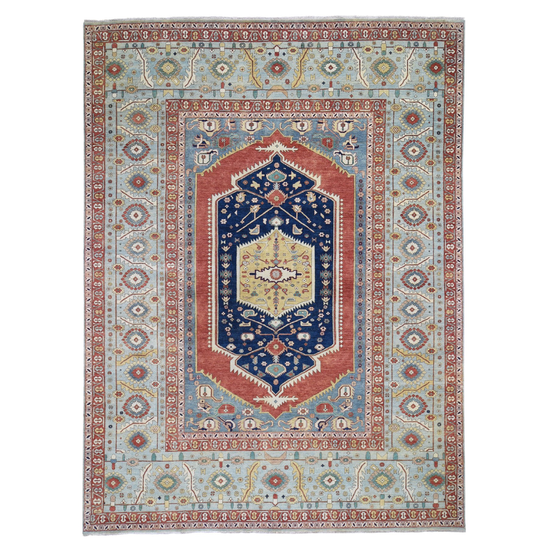 "9'2""X12'2"" Antiqued Bakshaish Re-Creation Pure Wool Hand Knotted Oriental Rug moad7c0a"