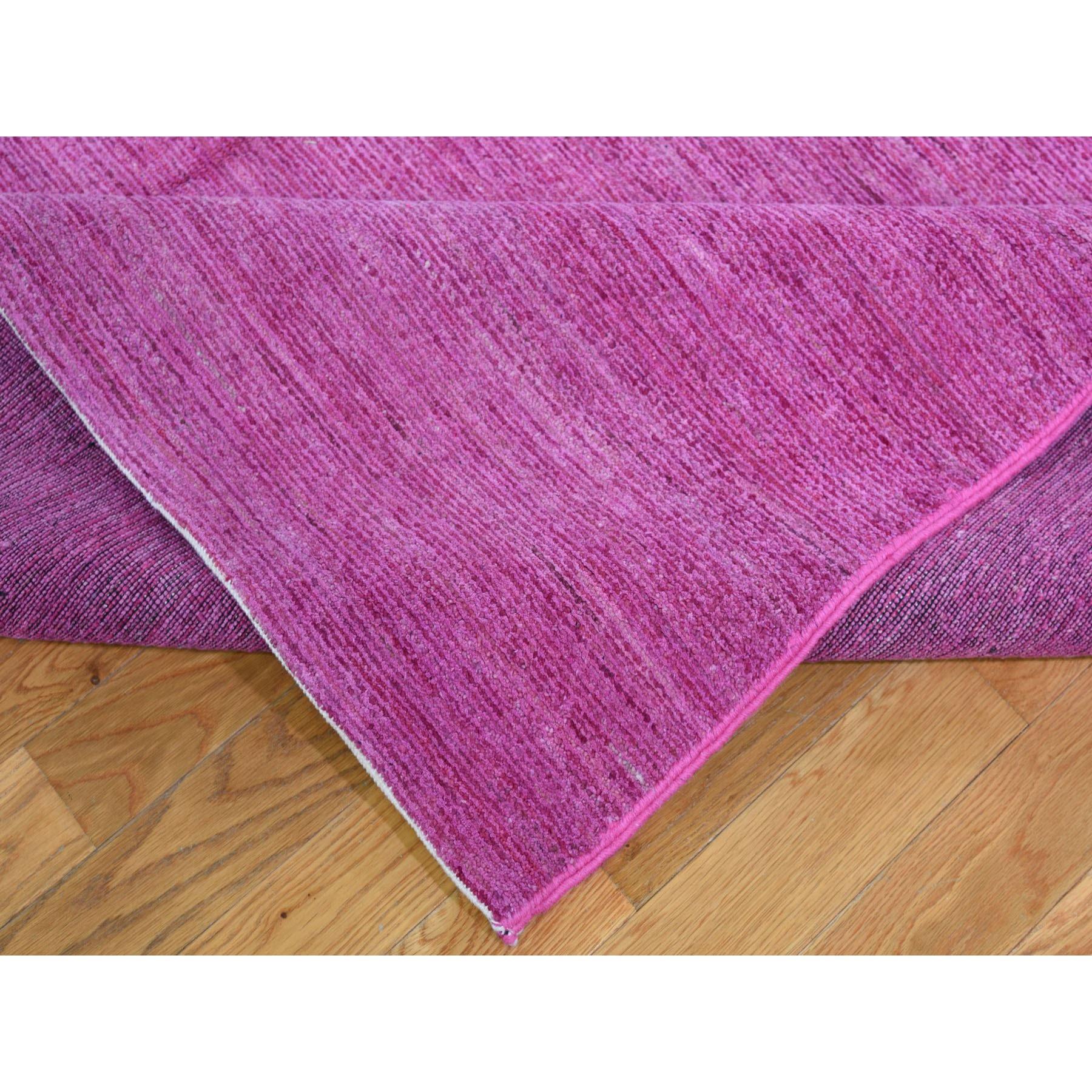 10'x14' Pink Pure Wool Pink Modern Gabbeh Oriental Rug Hand Knotted Oriental Rug
