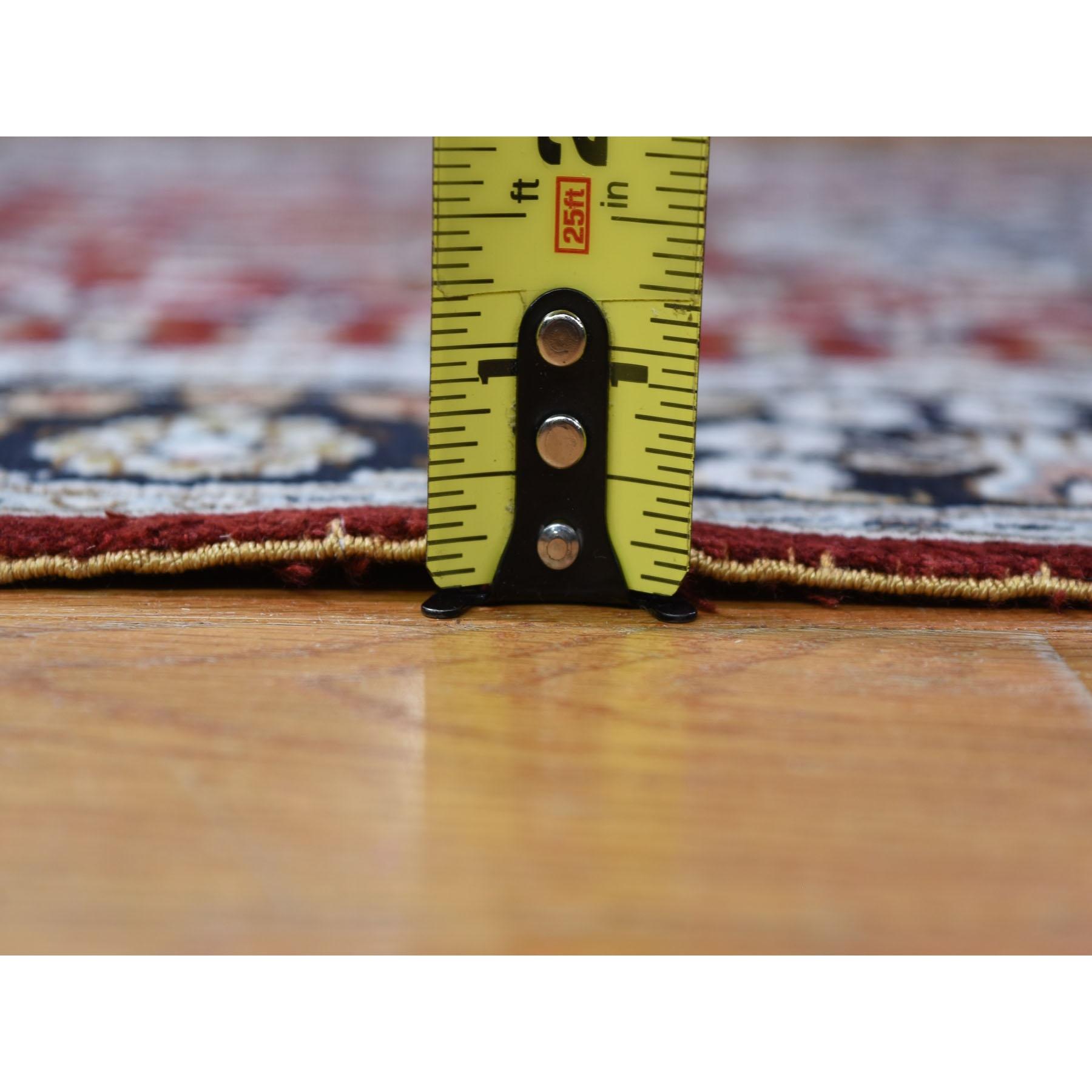 2-7 x13-9  Silken Kashan 250 KPSI Runner Hand Knotted Oriental Rug