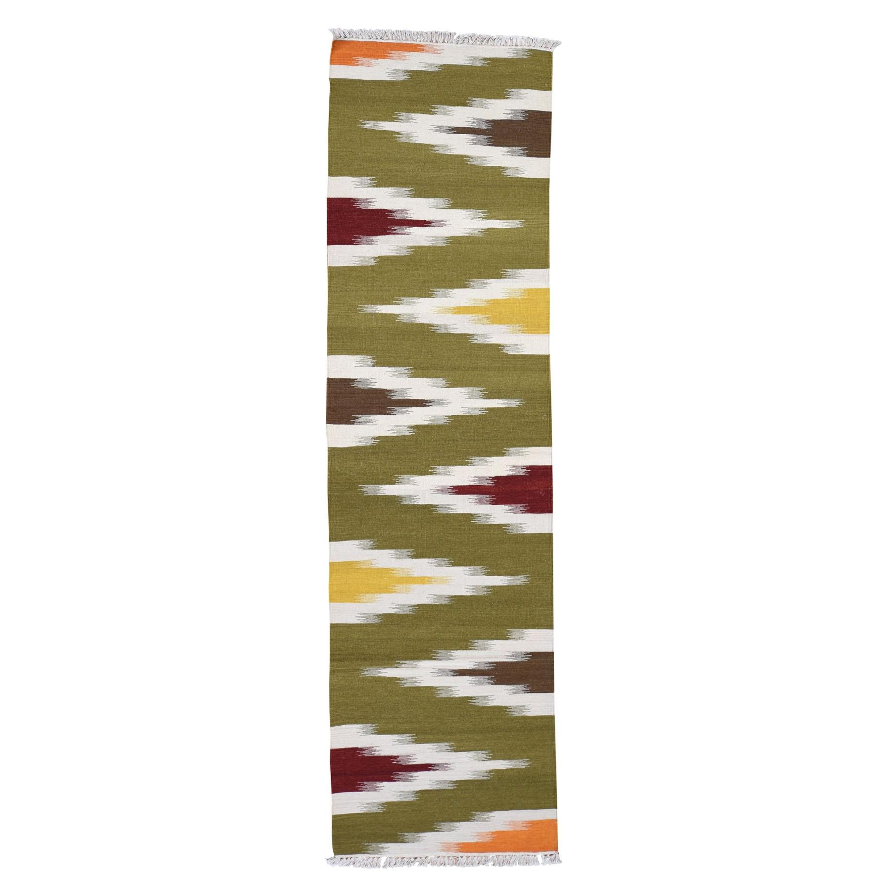 "2'7""X10' Runner Reversible Eye Dazzle Navajo Design Hand Woven Oriental Rug moad7c87"
