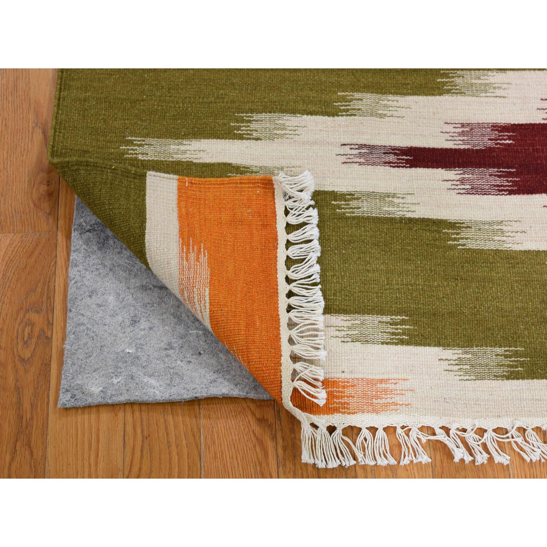 2-7 x10- Runner Reversible Eye Dazzle Navajo Design Hand Woven Oriental Rug