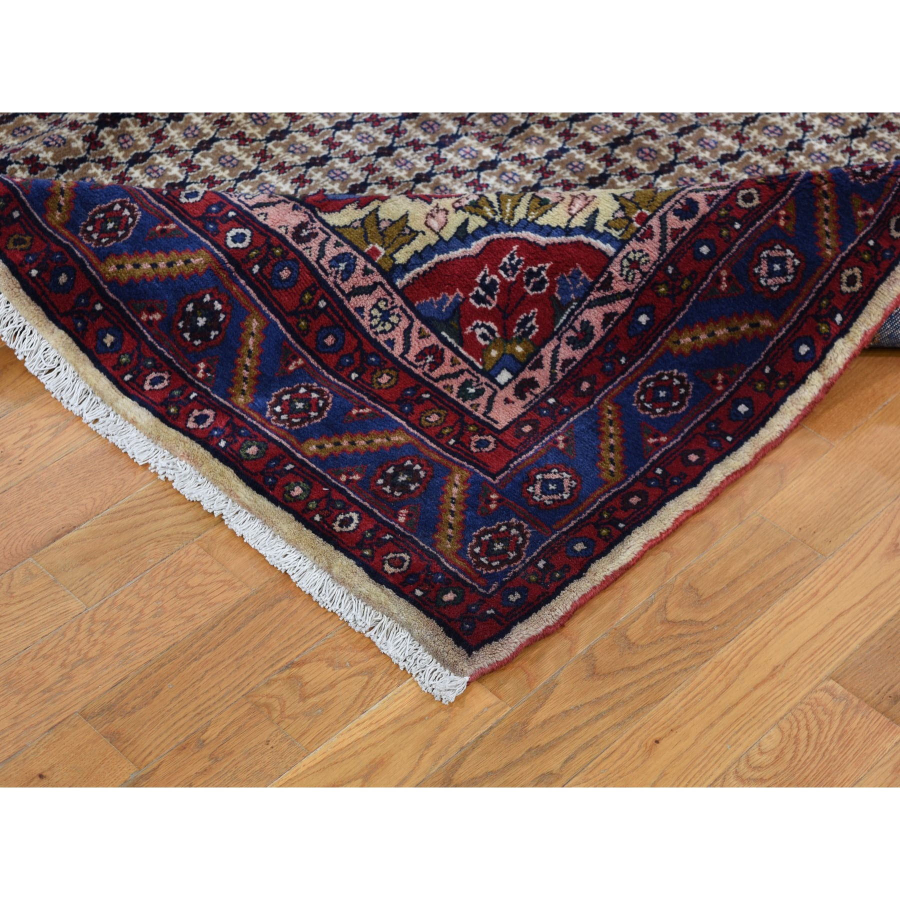 7-3 x10-6  Brown New Persian Hamadan Pure Wool Camel Hair Hand Knotted Oriental Rug