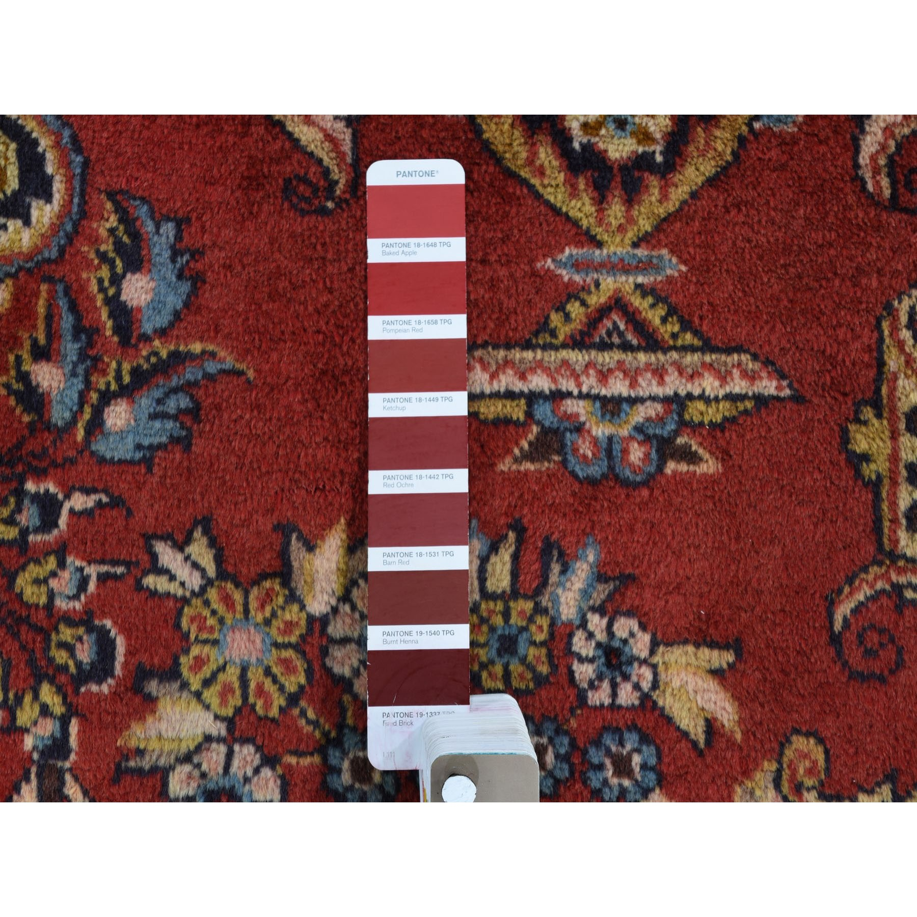 """7'2""""x10'5"""" Red New Persian Tabriz Pure Wool Full Pile Hand Knotted Oriental Rug"""