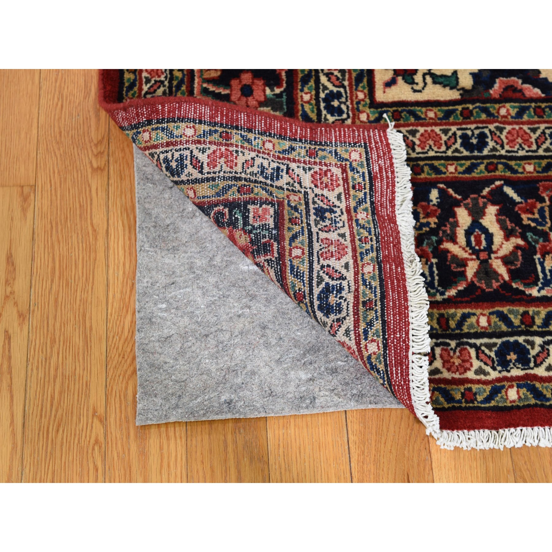 6-8 x10-4  Red New Persian Bibikabad Exc Condition Pure Wool Hand Knotted Oriental Rug