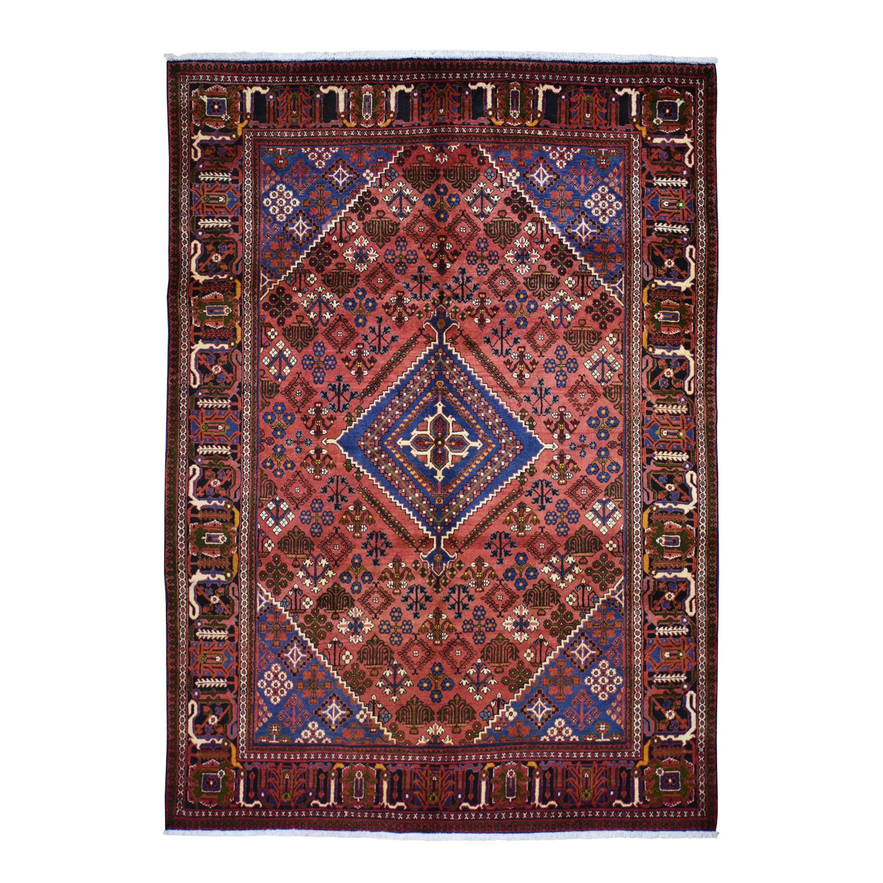 7'X10' Red New Persian Josheghan Full Pile Pure Wool Hand Knotted Oriental Rug moad7d86