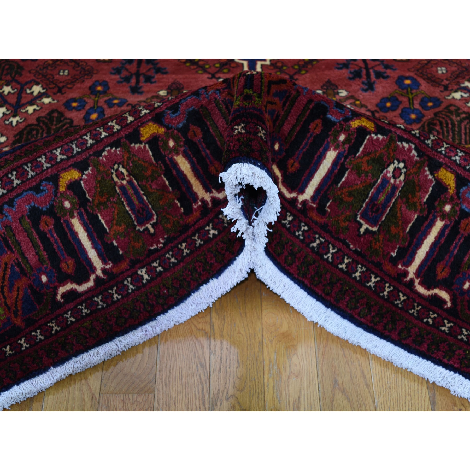 7-x10- Red New Persian Josheghan Full Pile Pure Wool Hand Knotted Oriental Rug