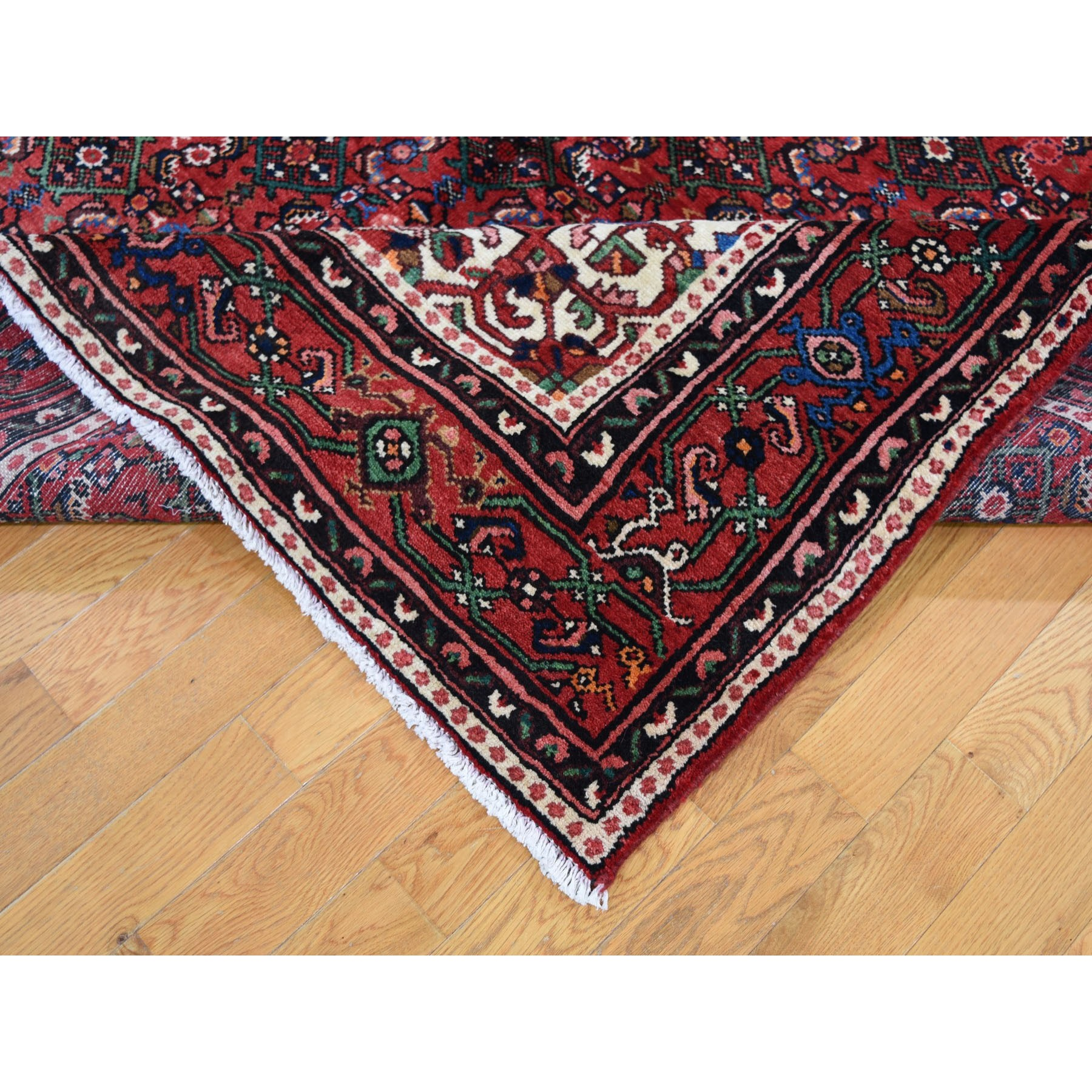 6-9 x10-3  Red New Persian Hamadan Pure Wool Hand Knotted Oriental Rug