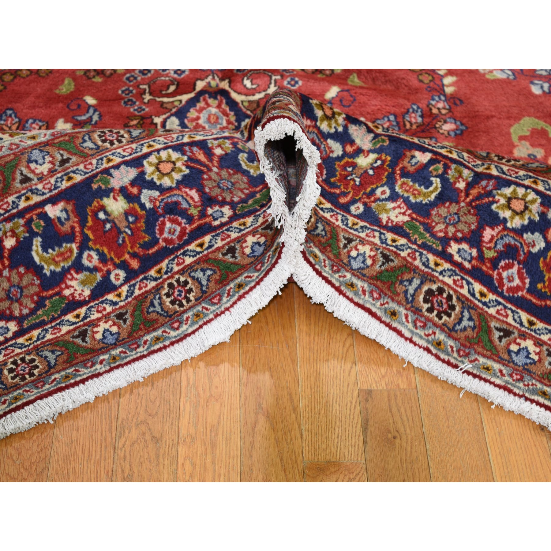 8'x11' Red New Persian Tabriz Pure Wool Full Pile Hand Knotted Oriental Rug