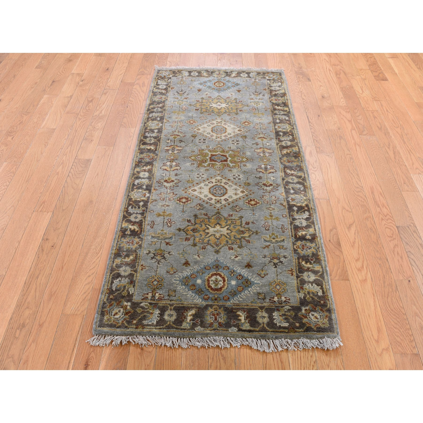 2 8 Quot X6 Gray Karajeh Design Pure Wool Hand Knotted Runner