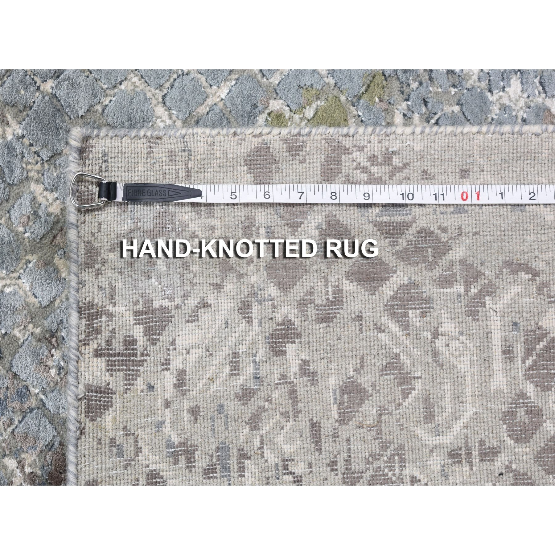 """10'x13'10"""" TRELLIS MOSAIC DESIGN With Pure Silk Hand Knotted Oriental Rug"""