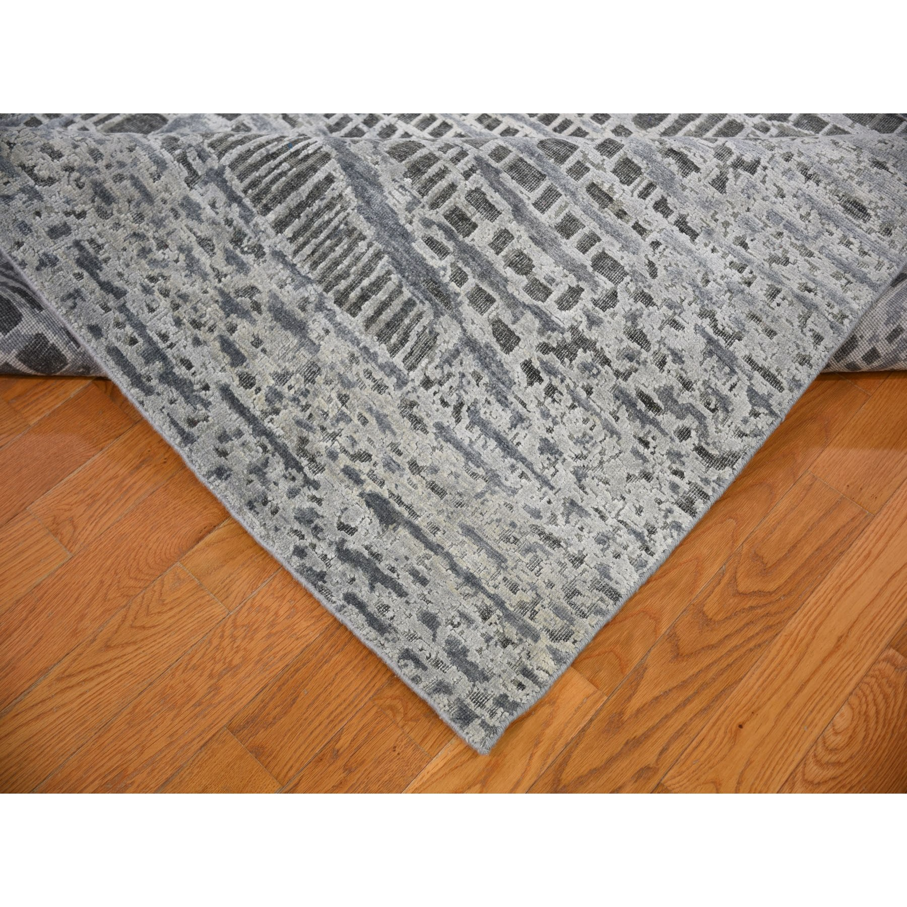 8-10 x12-2  THE LOST BRANCHES, Silk With Textured Wool Hand Knotted Oriental Rug