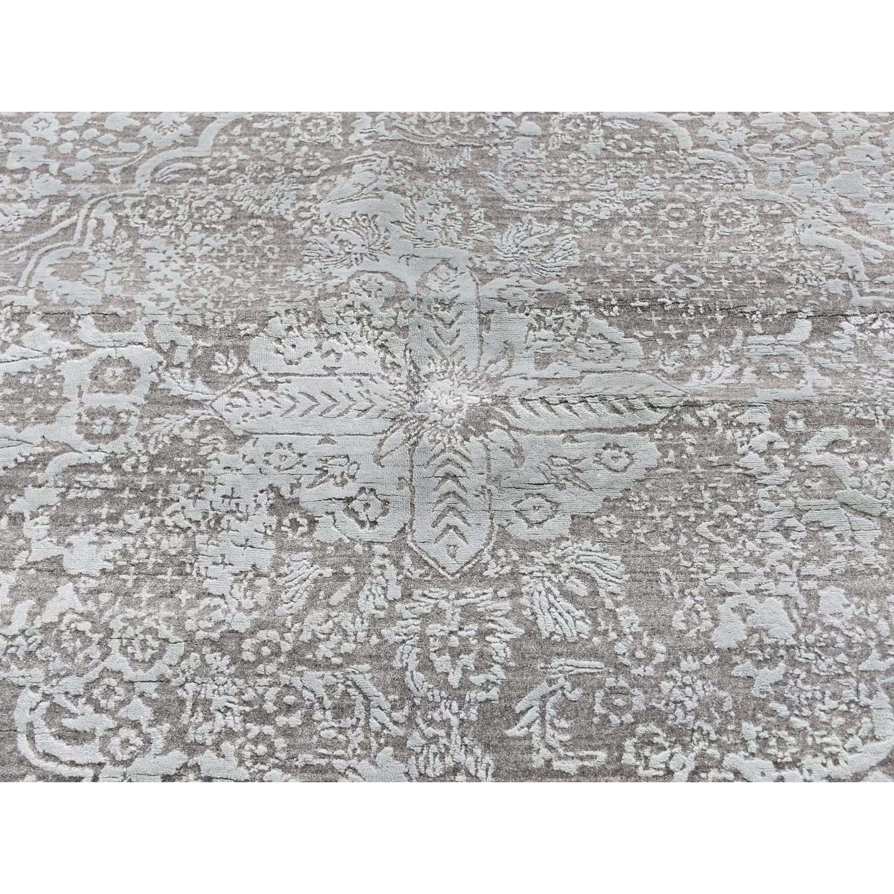 "11'10""x14'10"" Oversized Wool and Silk Hand Knotted Broken Persian Design Oriental Rug"
