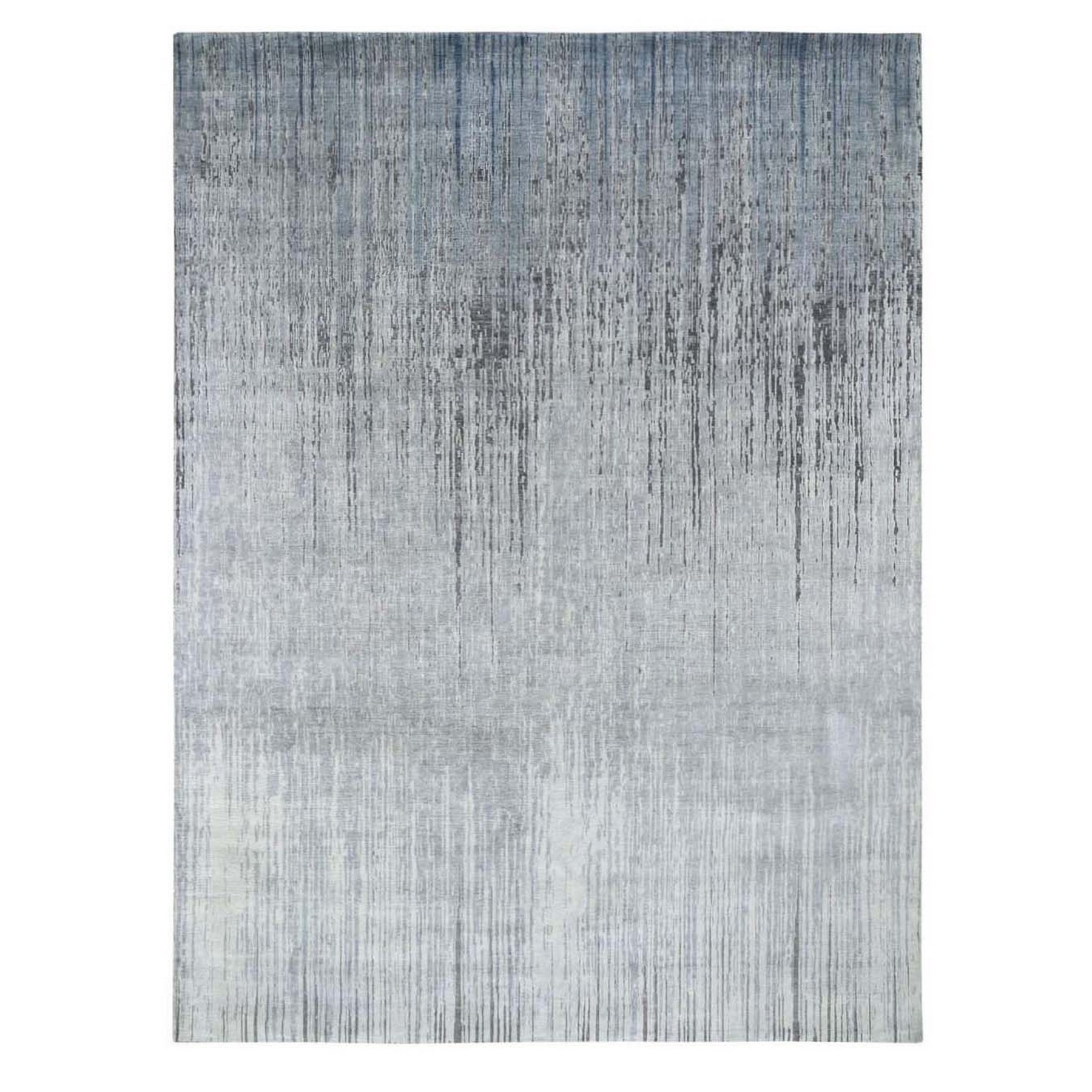 """9'X11'10"""" Ombre Design Pure Silk Hand Knotted Oriental Rug moad7806"""
