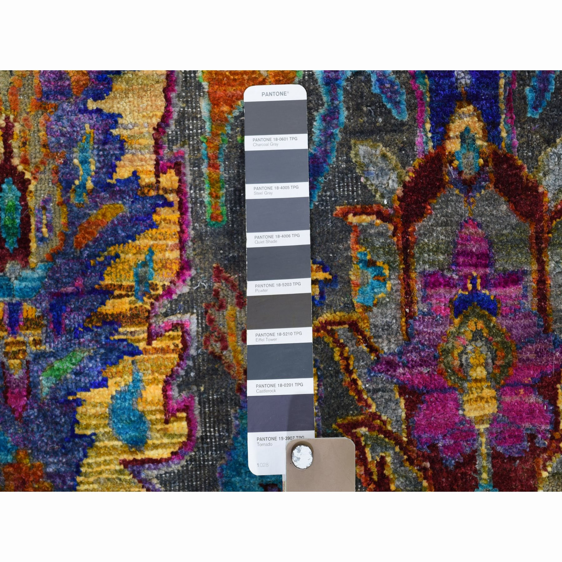 9'x12' THE EMPRESS JEWELS,Colorful Sari Silk Hand Knotted Oriental Rug