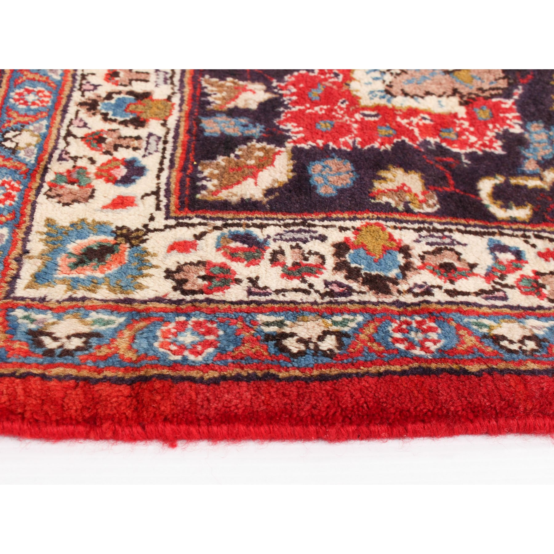 9-6 x12-3  Red Semi Antique Persian Kashan Pure Wool Hand Knotted Oriental Rug