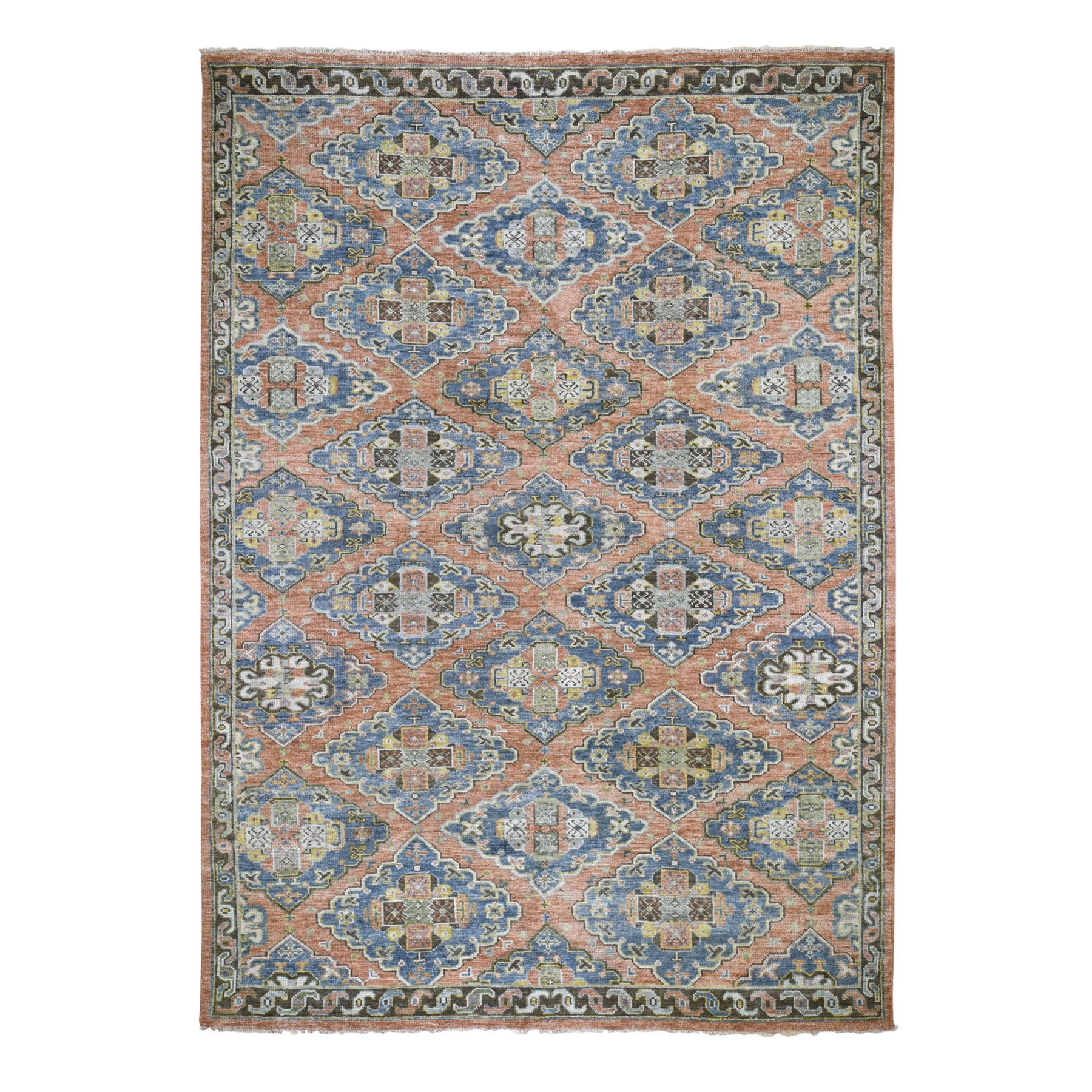 "10'3""X13'9"" Coral Supple Collection Oushak Design Soft Wool Hand Knotted Rug moad79a7"