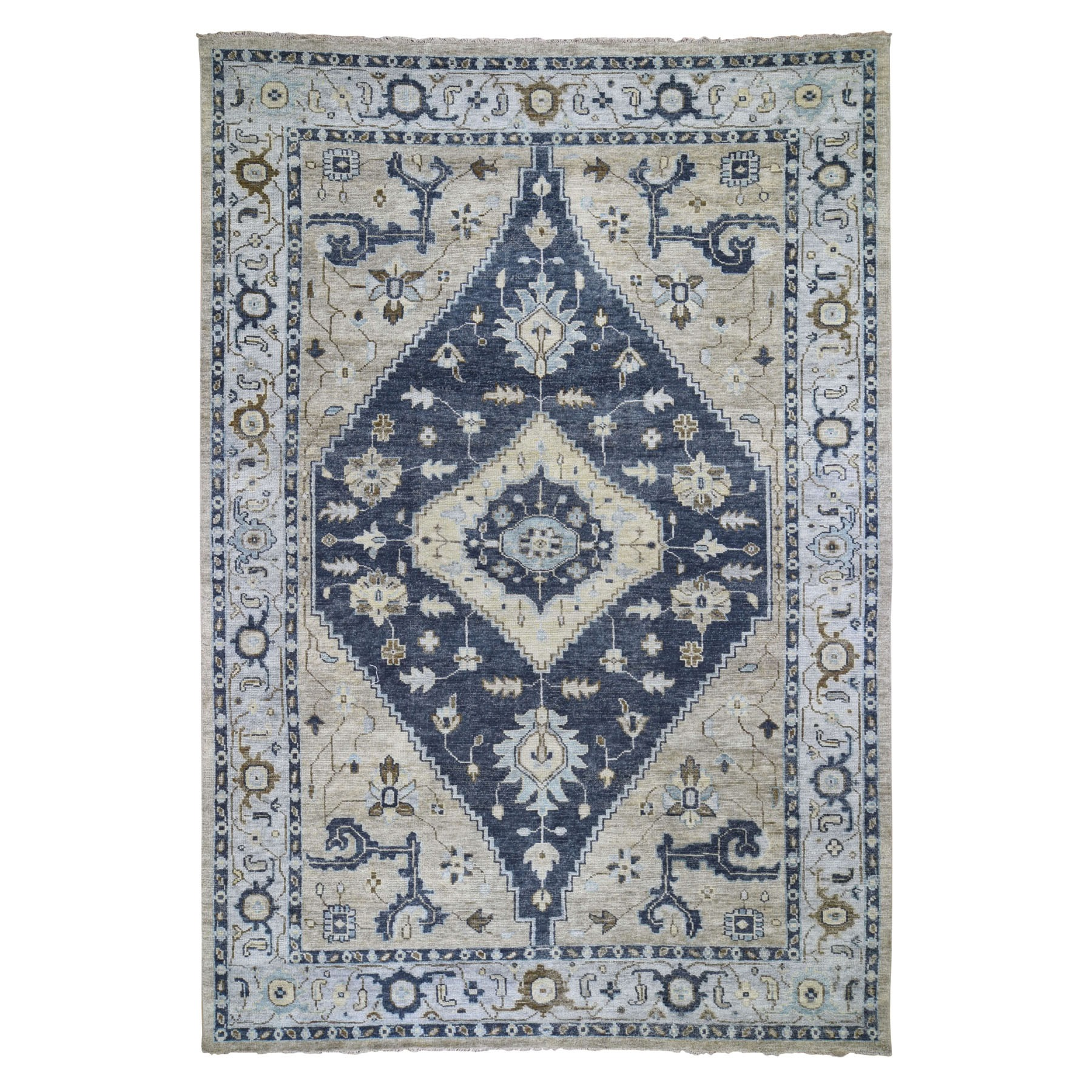 """9'9""""X14' Supple Collection Bakshaish Design Soft Wool Oriental Hand Knotted Oriental Rug moad79a9"""