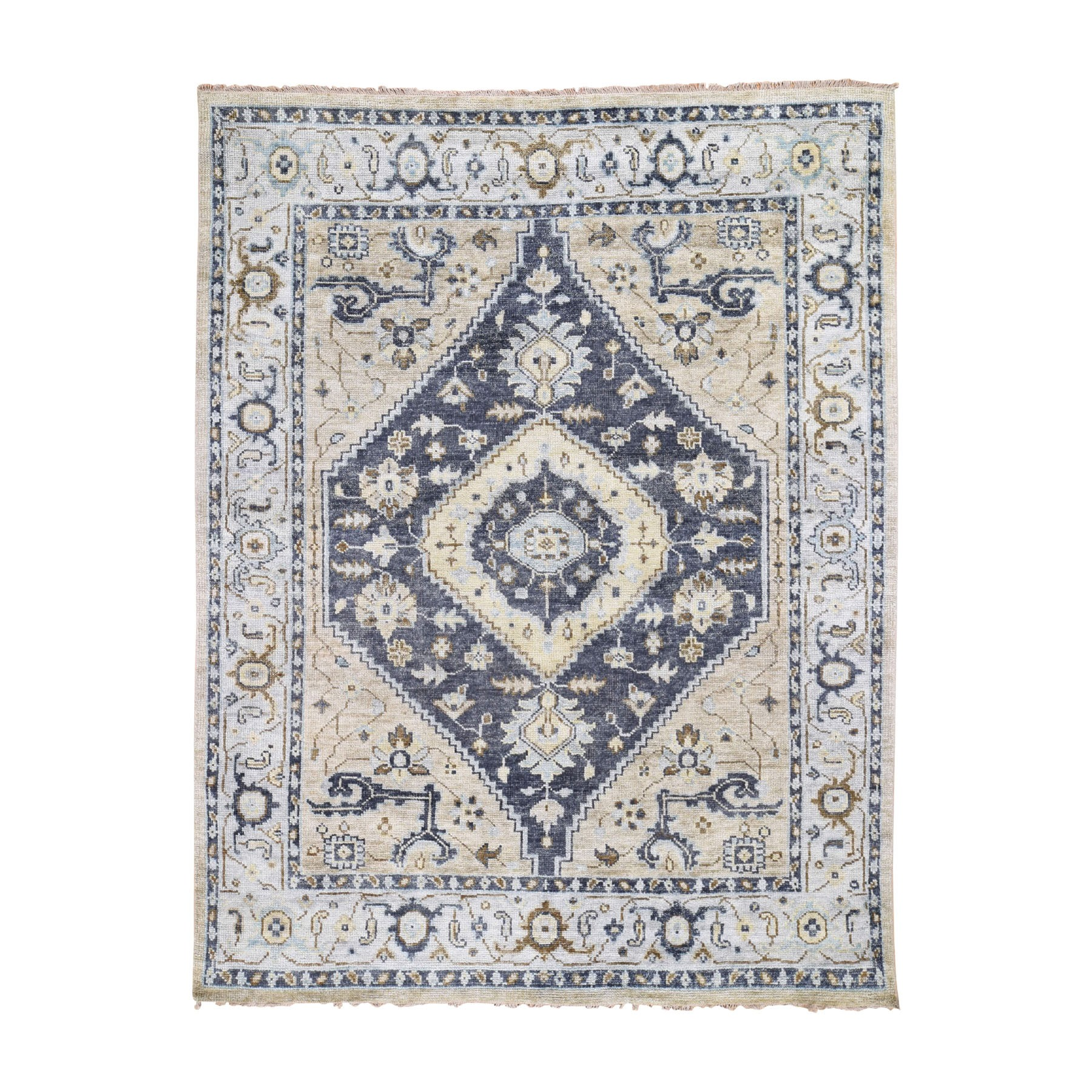 """8'X9'10"""" Supple Collection Bakshaish Design Soft Wool Oriental Hand Knotted Oriental Rug moad79b7"""