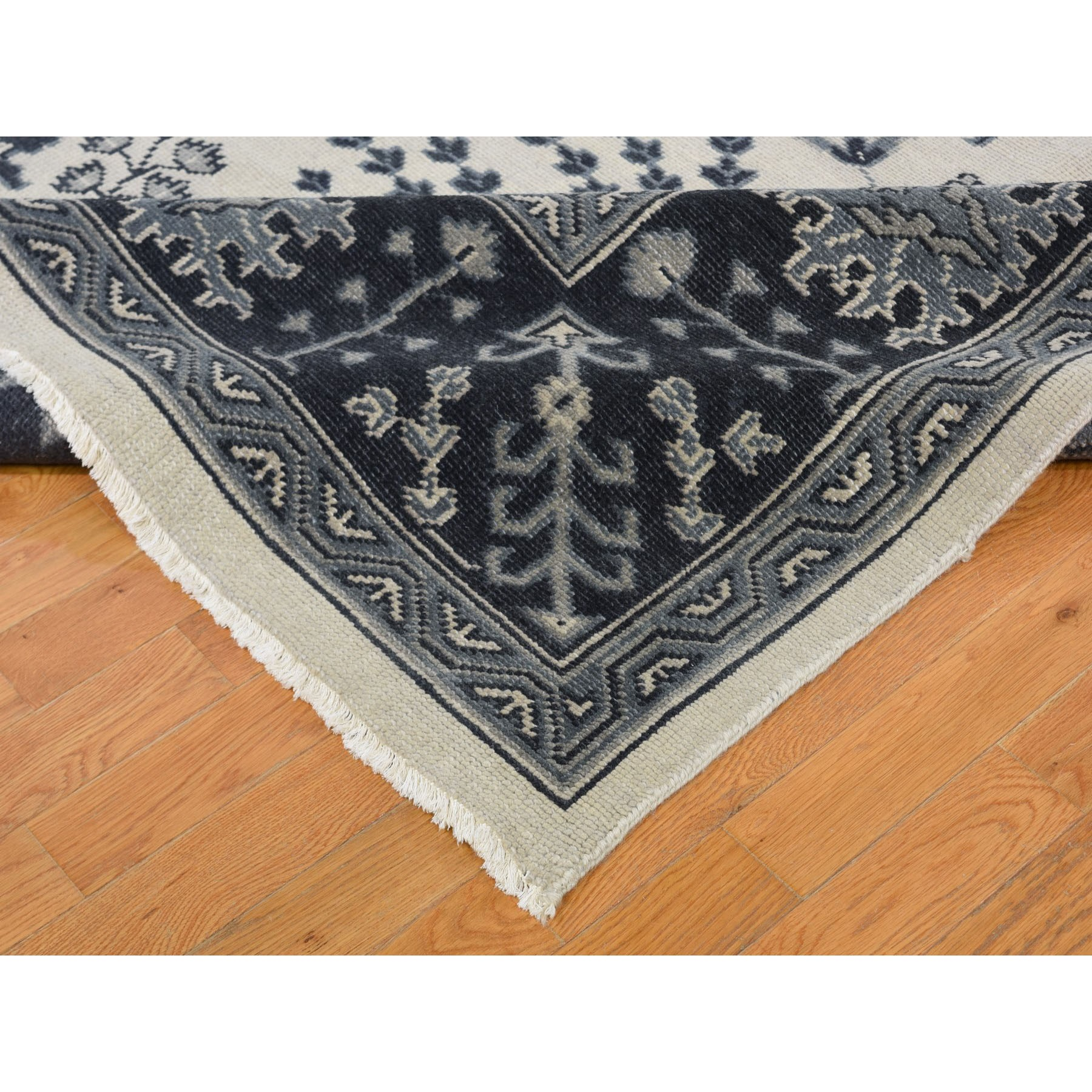 10'x14' Gray Turkish Knot Oushak Pure Wool Hand Knotted Oriental Rug