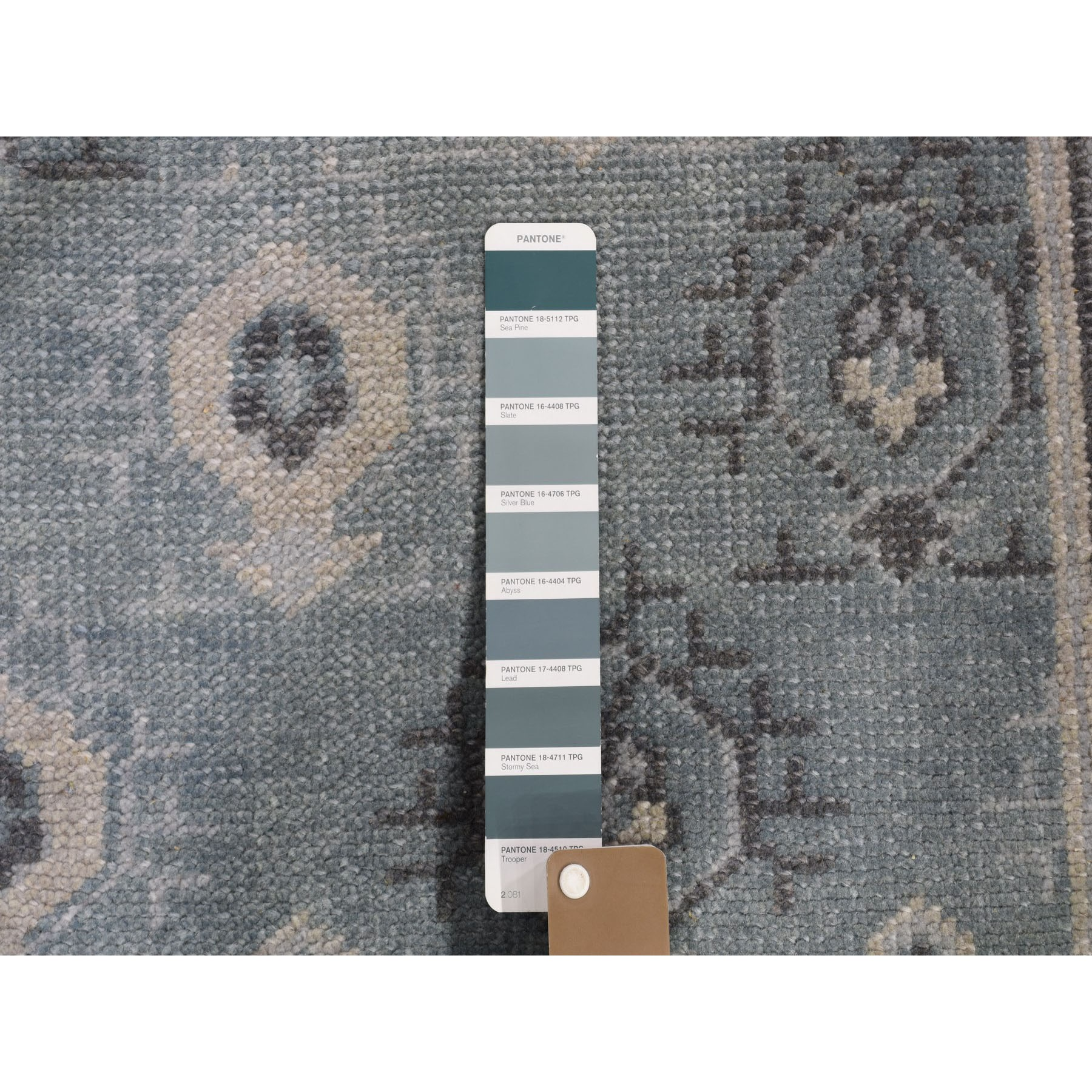 """10'x13'9"""" Turkish Knot Oushak Cropped Thin Hand Knotted Oriental Rug"""