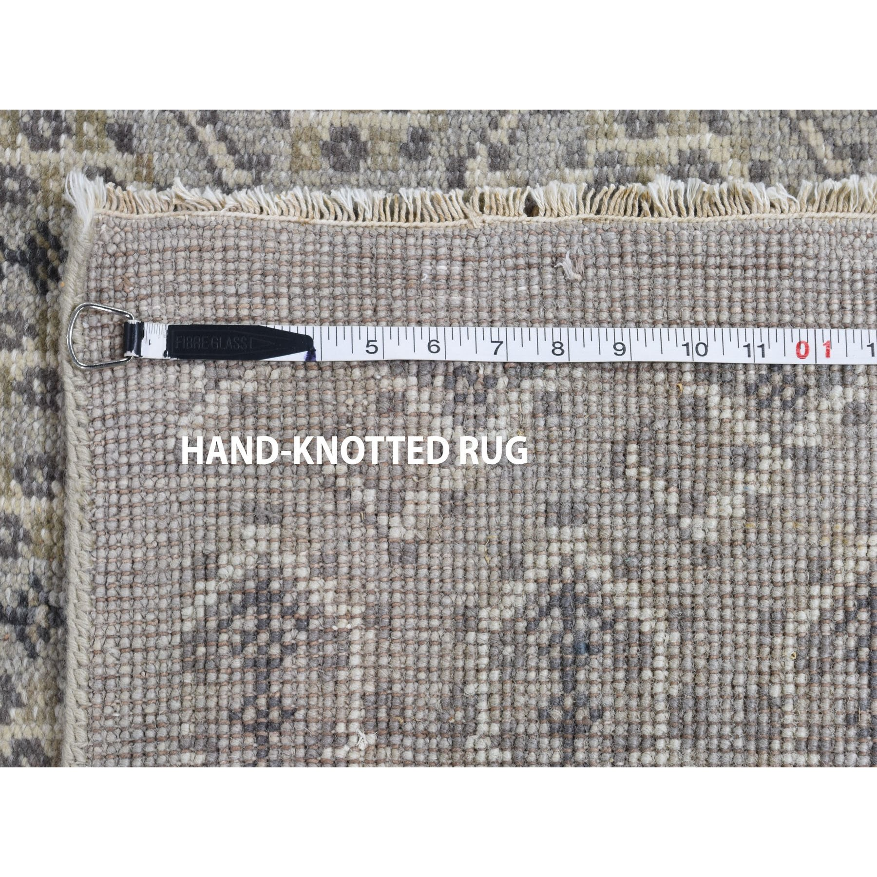 10-x13-9  Gray Paisley Design Turkish Knot Pure Wool Hand Knotted Oriental Rug