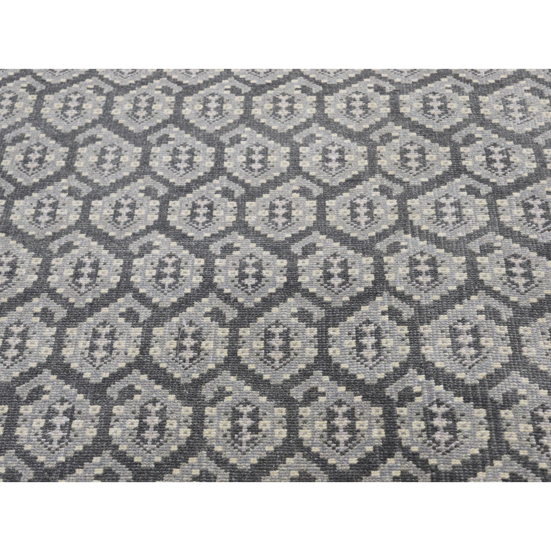 "10'x13'10"" Grey Turkish Knot Paisley Design Hand Knotted Oriental Rug"