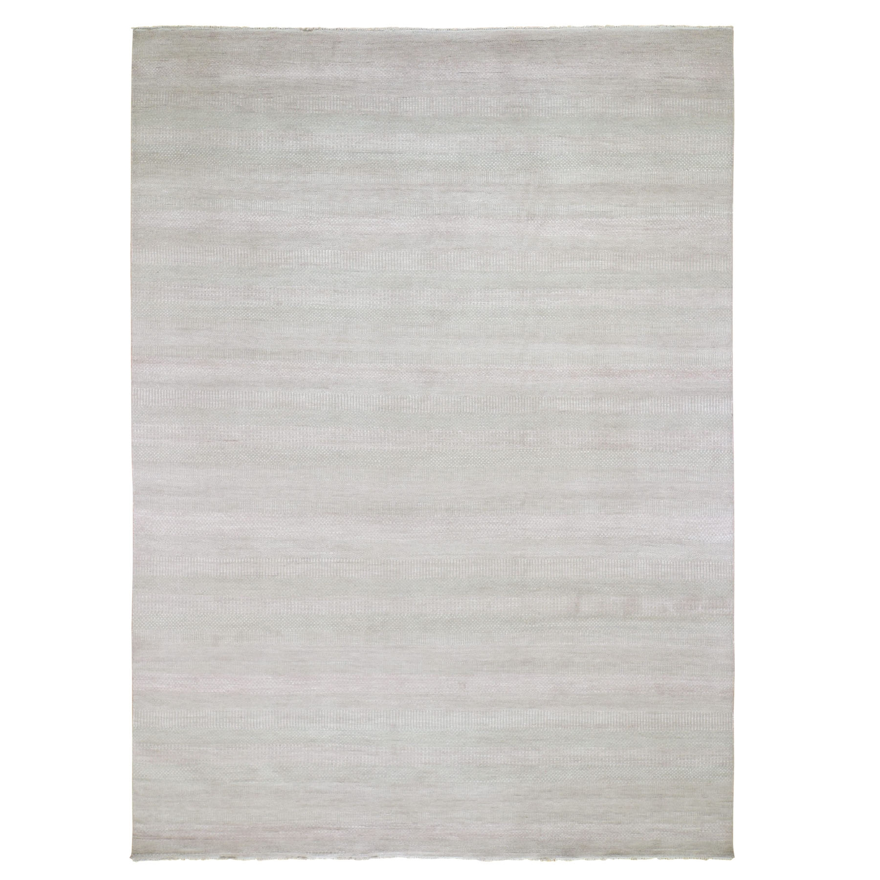 """9'X12'2"""" Hand Knotted Wool And Silk Grass Design Oriental Rug moad7976"""